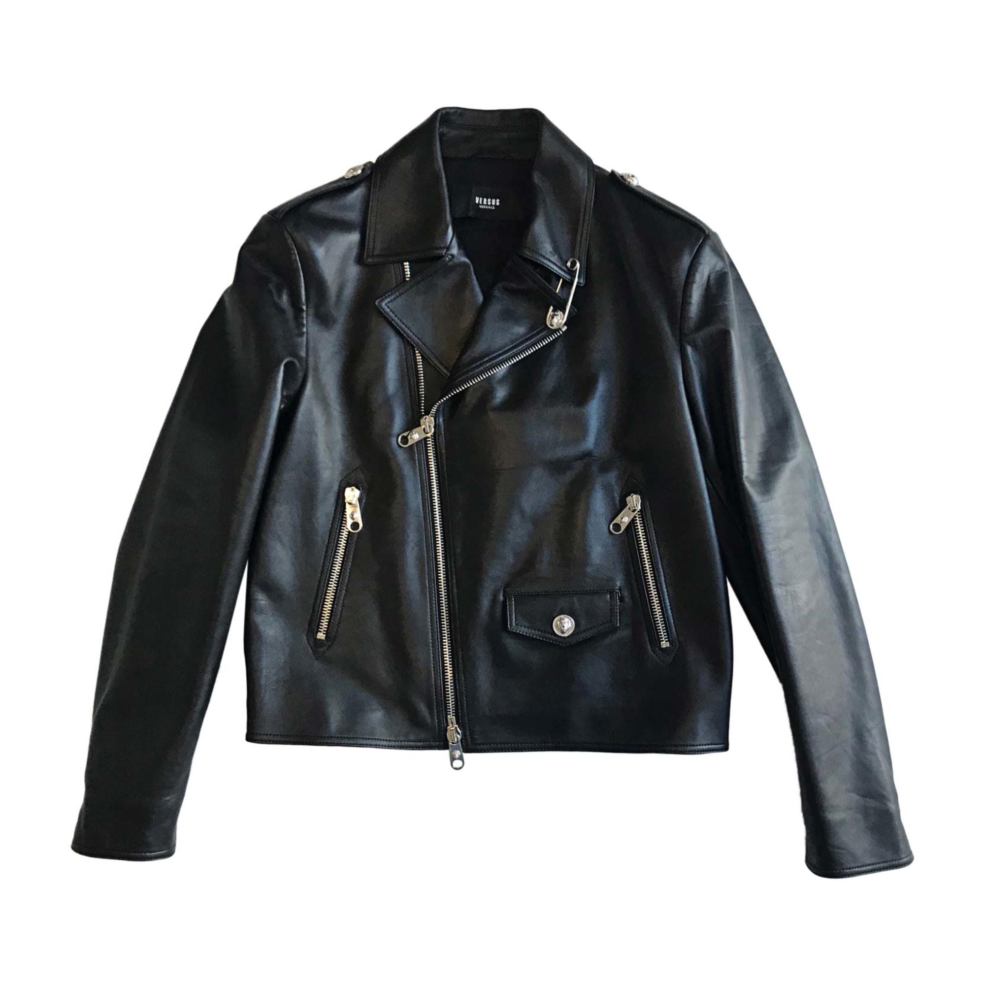 e9cf63a259f9 Blouson en cuir VERSUS VERSACE 50 (M) noir vendu par Jag2b - 7285705