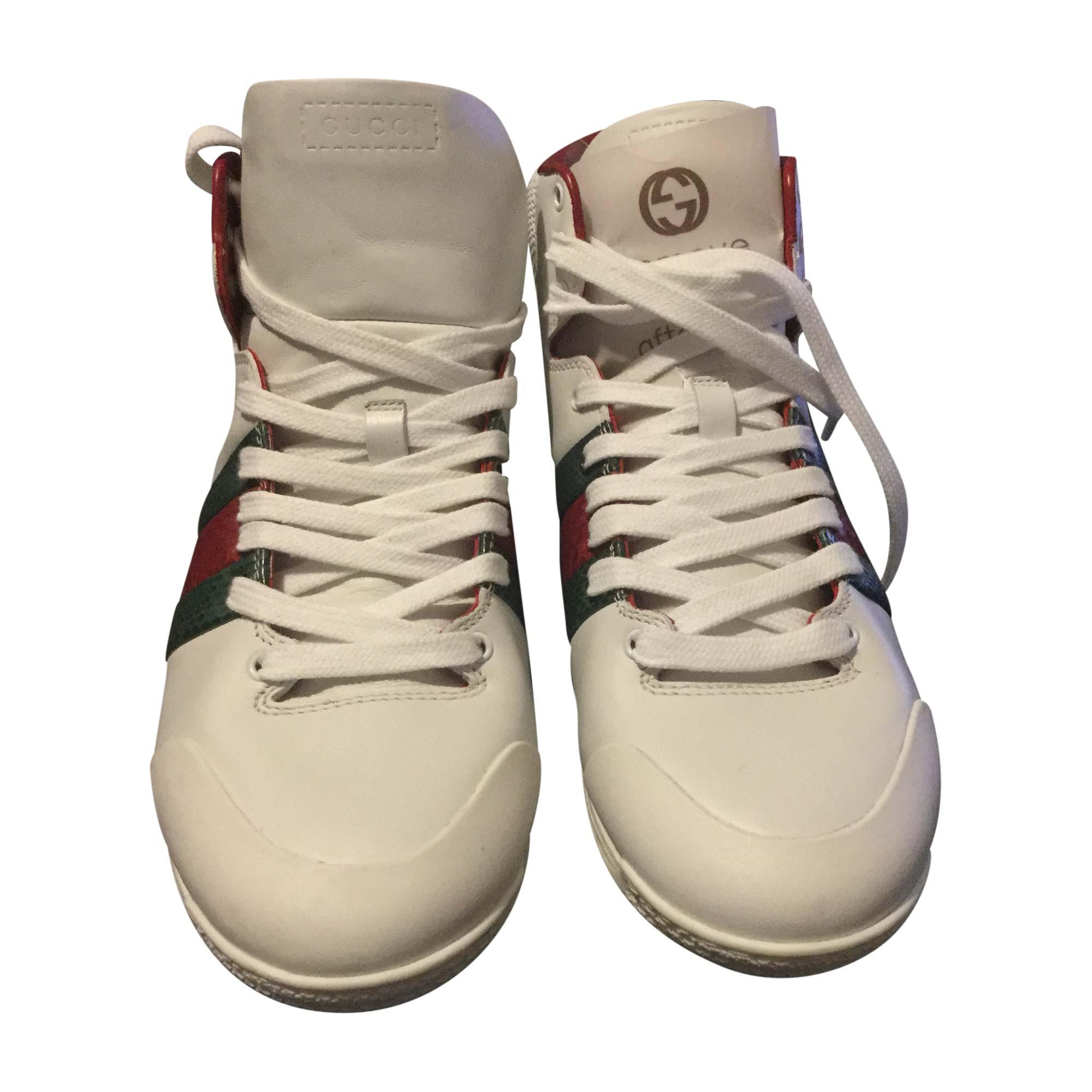 Baskets GUCCI Blanc, blanc cassé, écru fd5fbb20f76