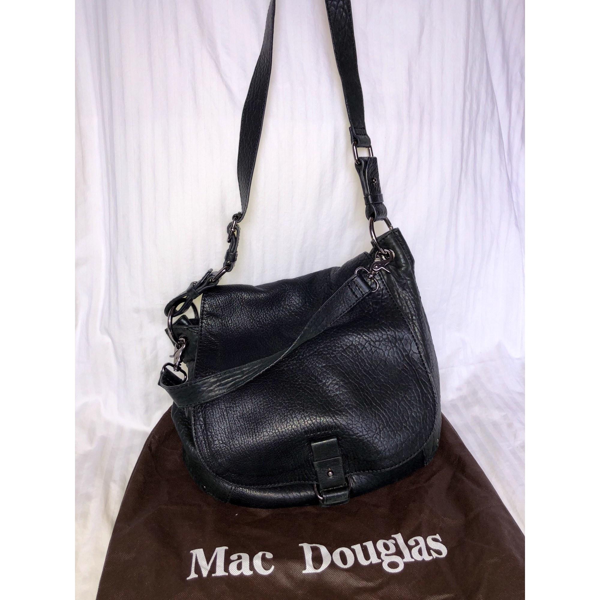 ccb389b5b7a4 Sac en bandoulière en cuir MAC DOUGLAS noir - 7295463