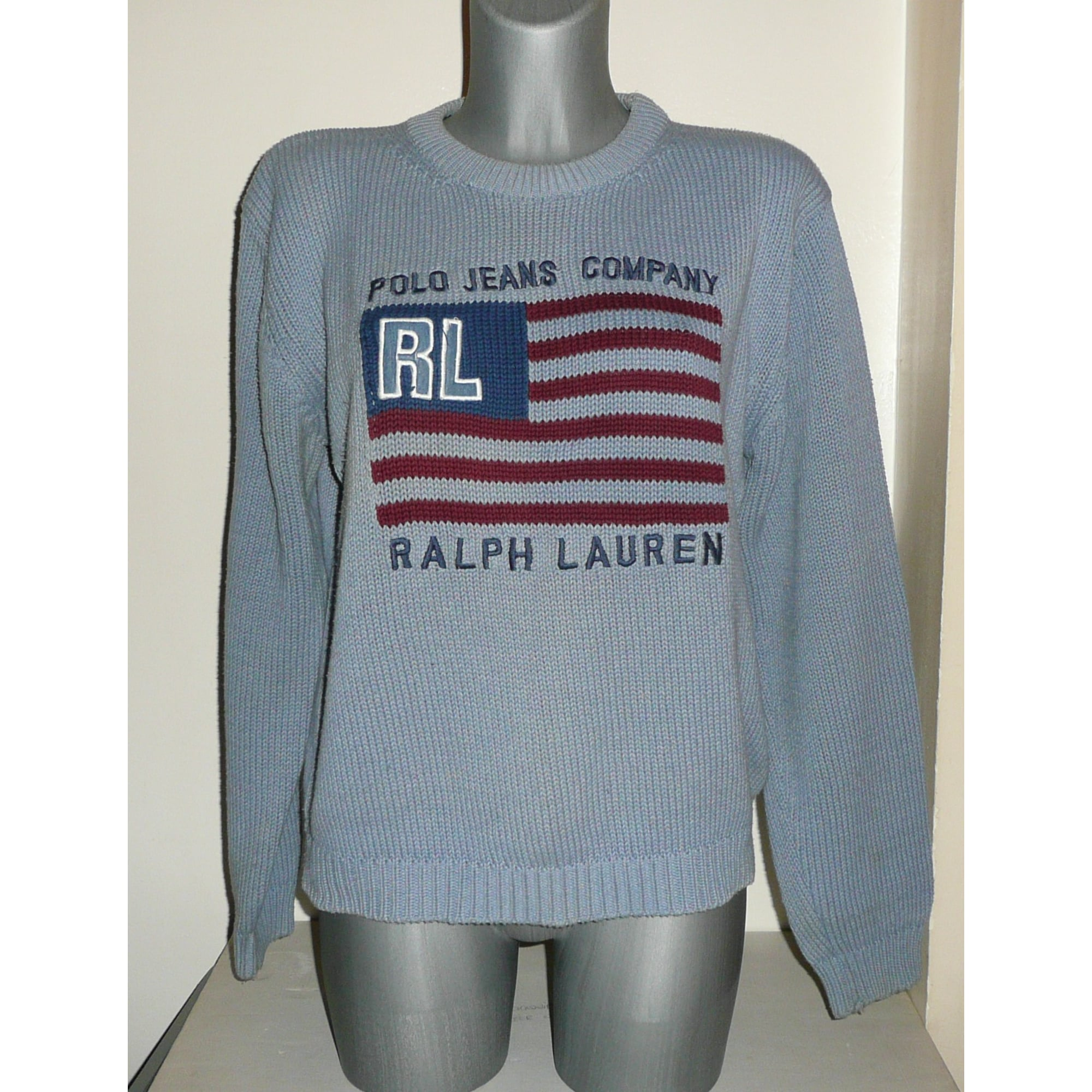 Pull RALPH LAUREN 38 (M, T2) bleu vendu par Sokool - 7295600 2b71c7ab29be