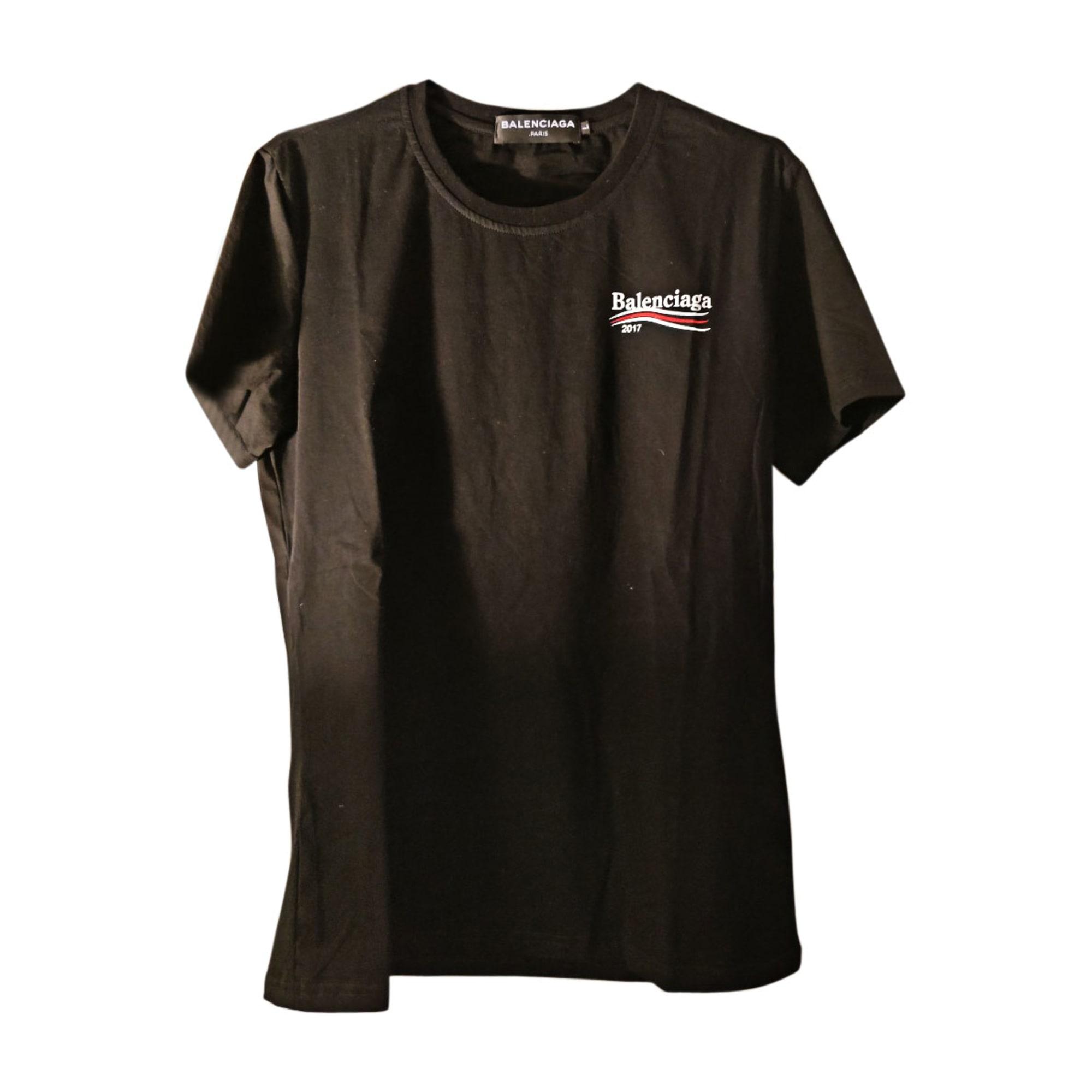 d1bb32ad21e5 Tee-shirt BALENCIAGA 3 (L) noir vendu par Colin 643 - 7296416