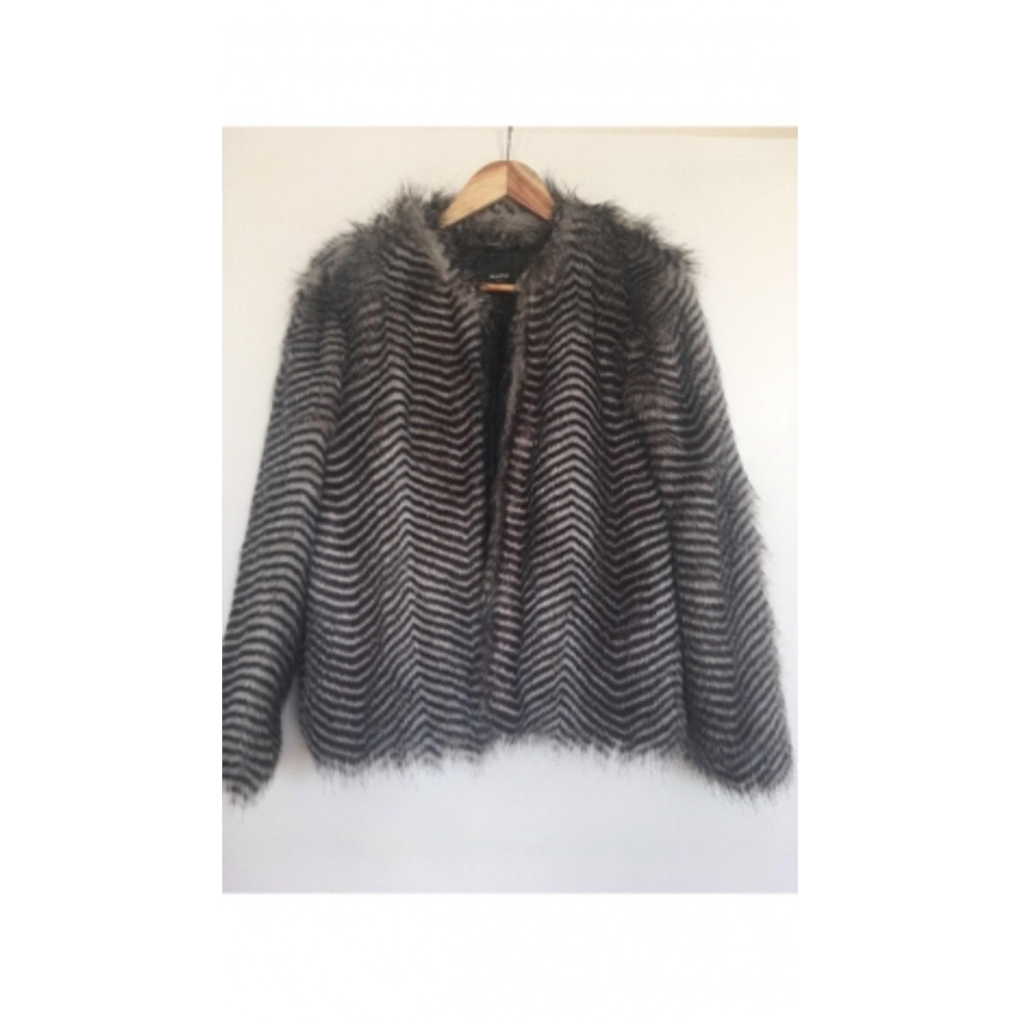 Blouson, veste en fourrure MANGO 38 (M, T2) noir - 7298430 7557db991753
