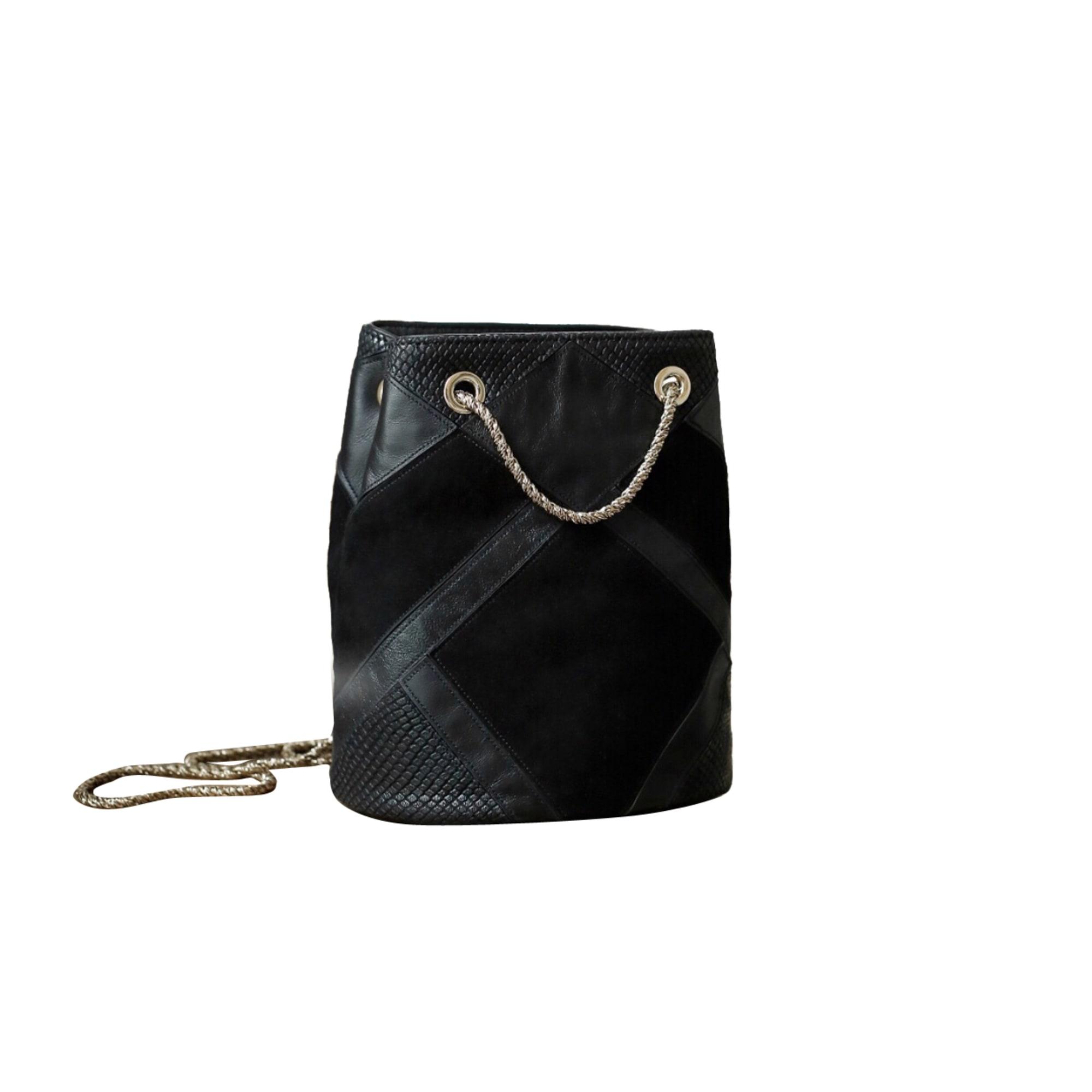 Leather Handbag SÉZANE Black