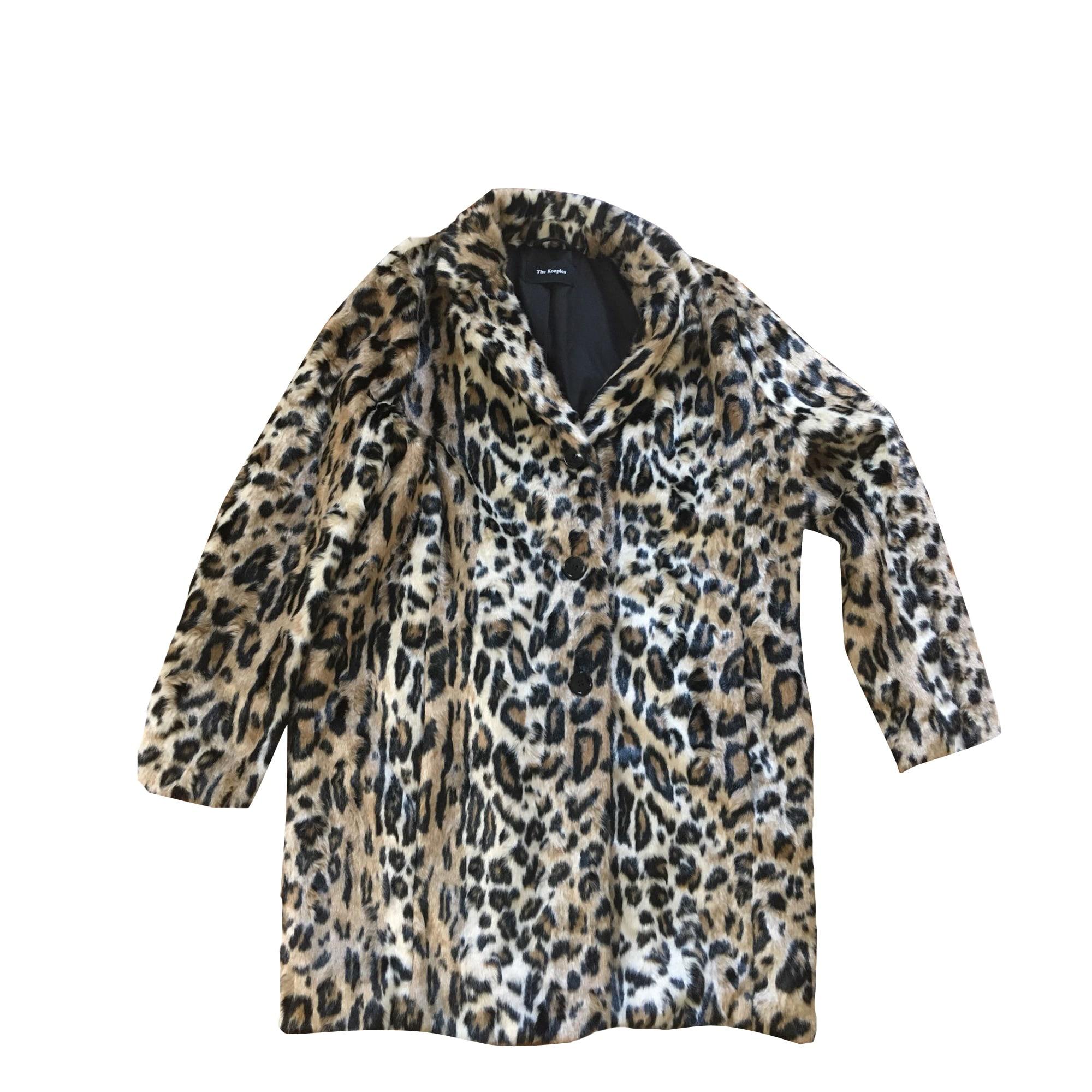 Manteau esprit fourrure léopard The Kooples en léopard pour