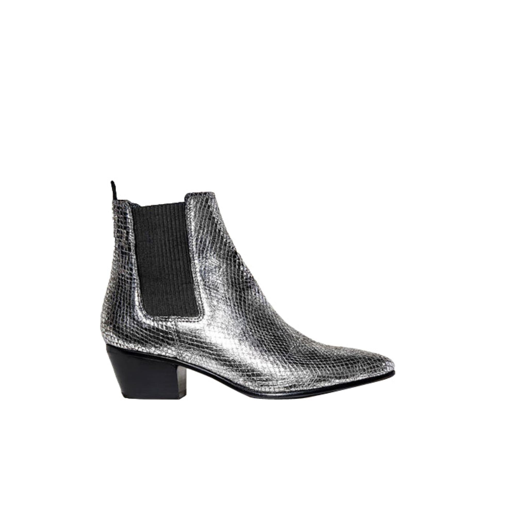 96009c71d41 Bottines   low boots à talons MAJE 39 argenté vendu par Nikodressing ...