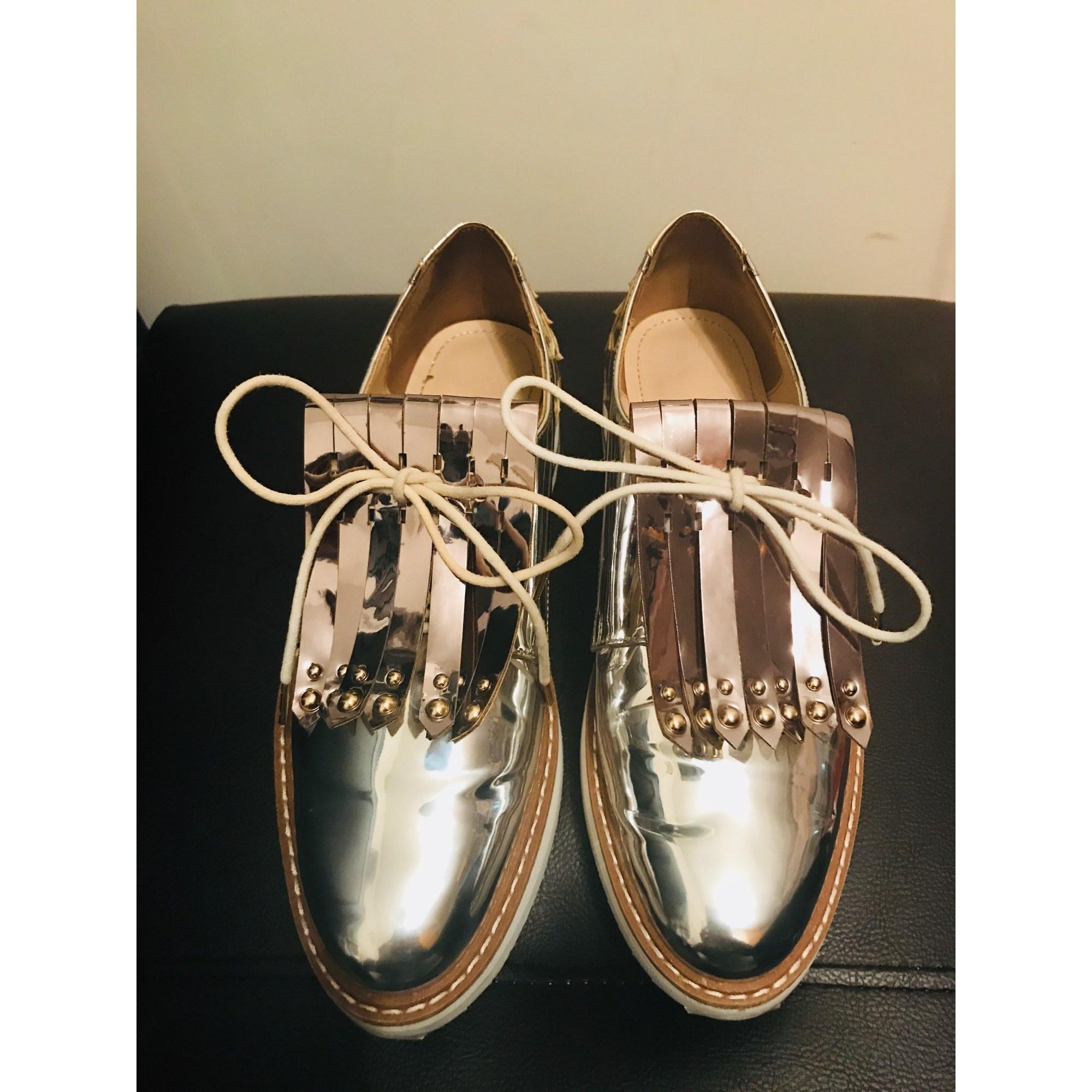 Zara 7309284 À Lacets Argenté 37 Chaussures NXO0P8nwk