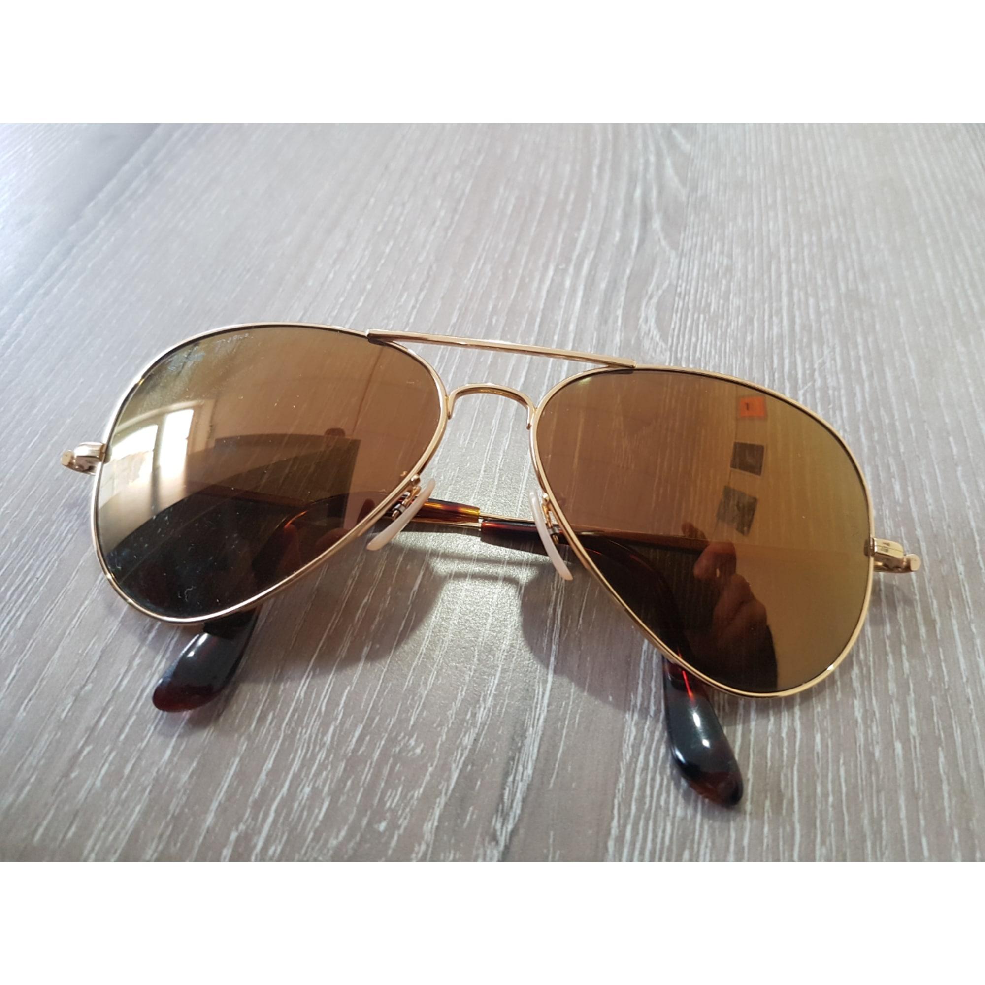 ab8c5938210674 Lunettes de soleil RAY-BAN Doré, bronze, cuivre