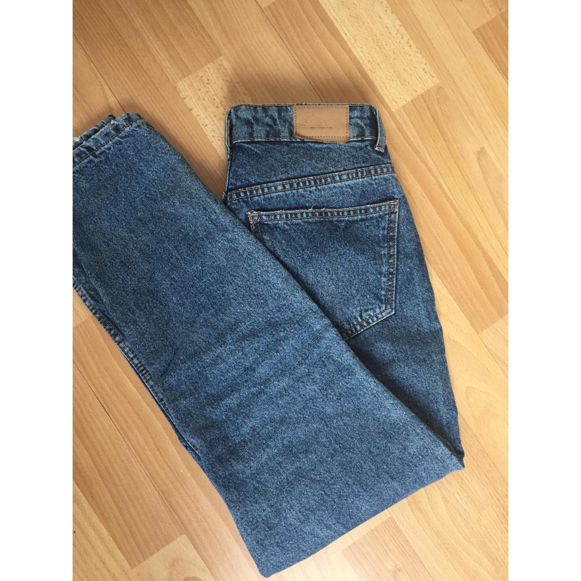 543a14ccff Jeans large, boyfriend BERSHKA W25 (T 34) jean foncé - 7329411