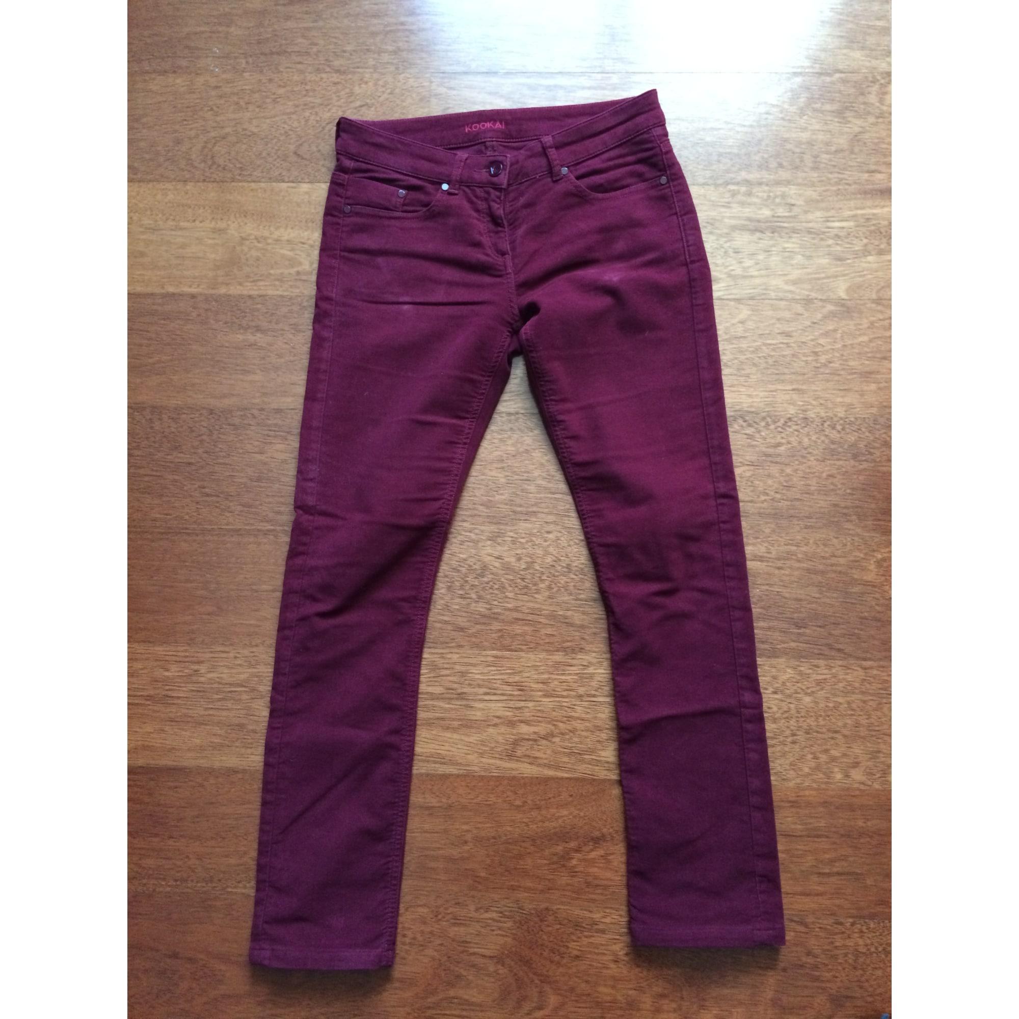 Jeans droit KOOKAI W27 (T 36) rouge - 7332535 9899ea80b