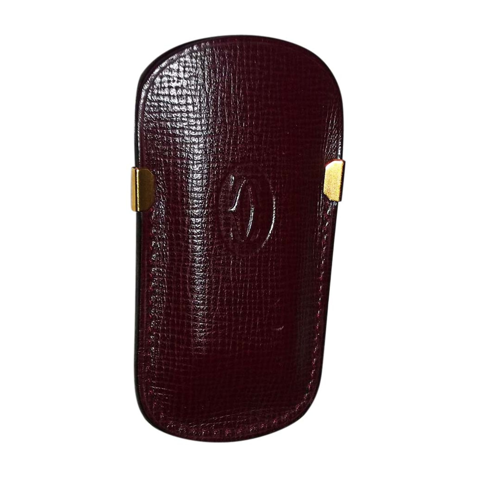 Porte-cigarette CARTIER cuir rouge