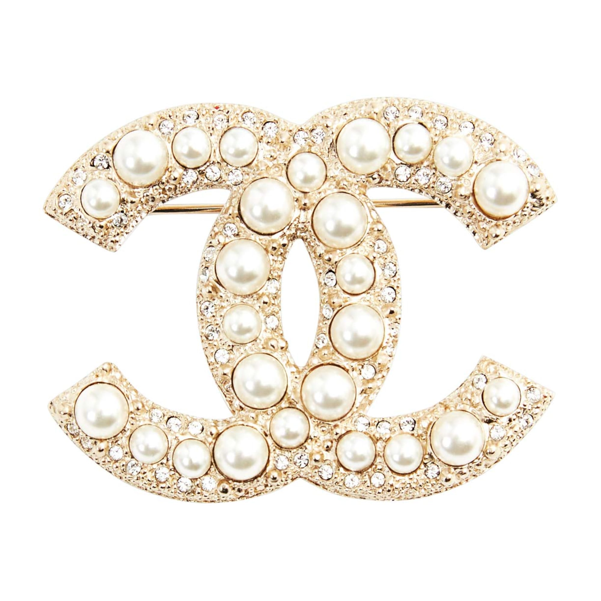 chanel ebay x cc s brand harrods brooch crystals pin new large silver itm