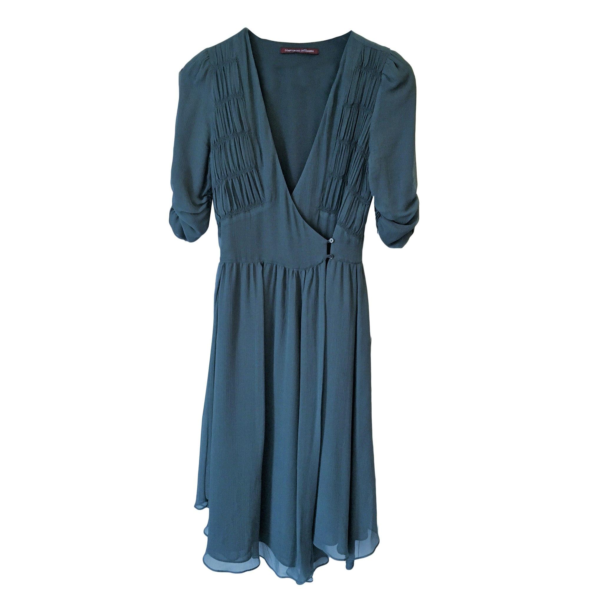 Robe mi longue comptoir des cotonniers 36 s t1 vert - Robe longue comptoir des cotonniers ...
