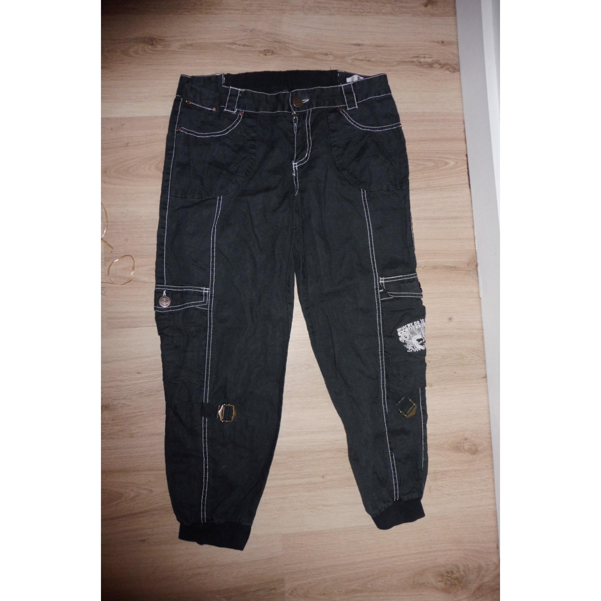 Pantalon carotte DESIGUAL Noir