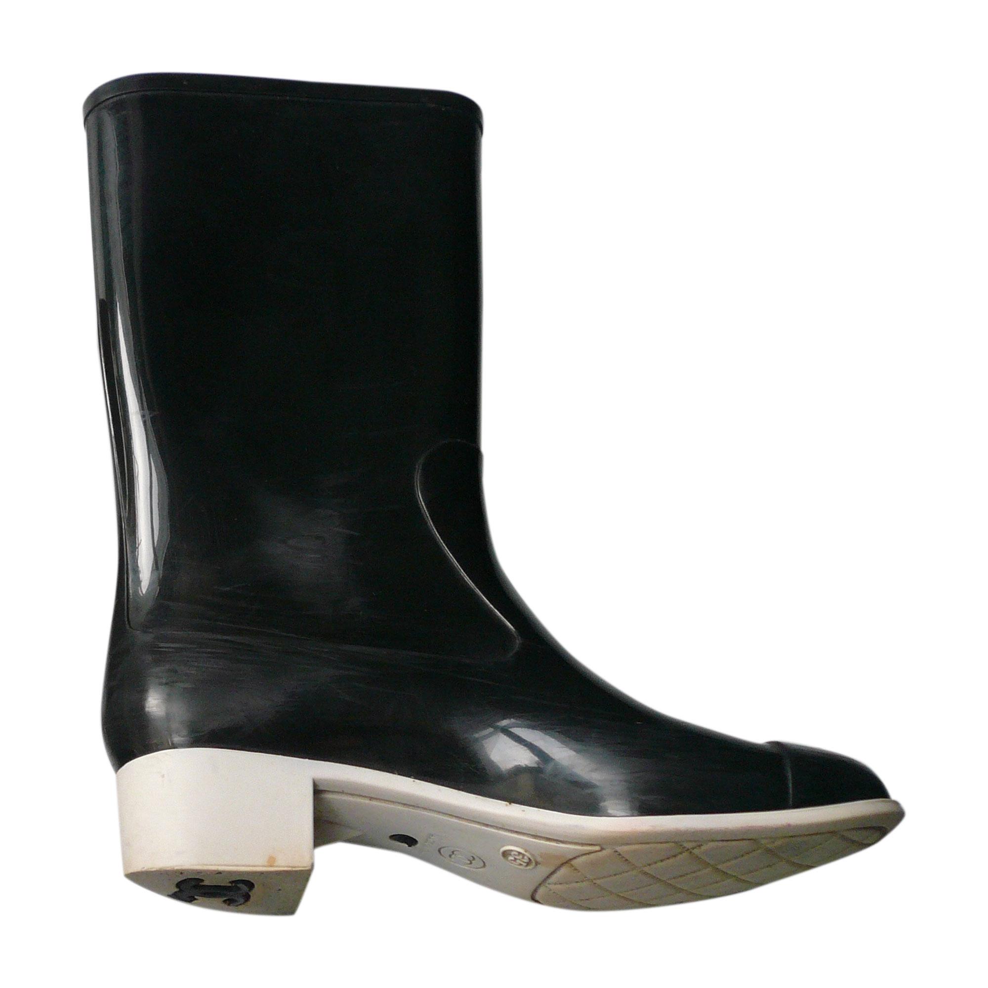 Bottes de pluie CHANEL 35 noir - 7359010 ab831978a6b