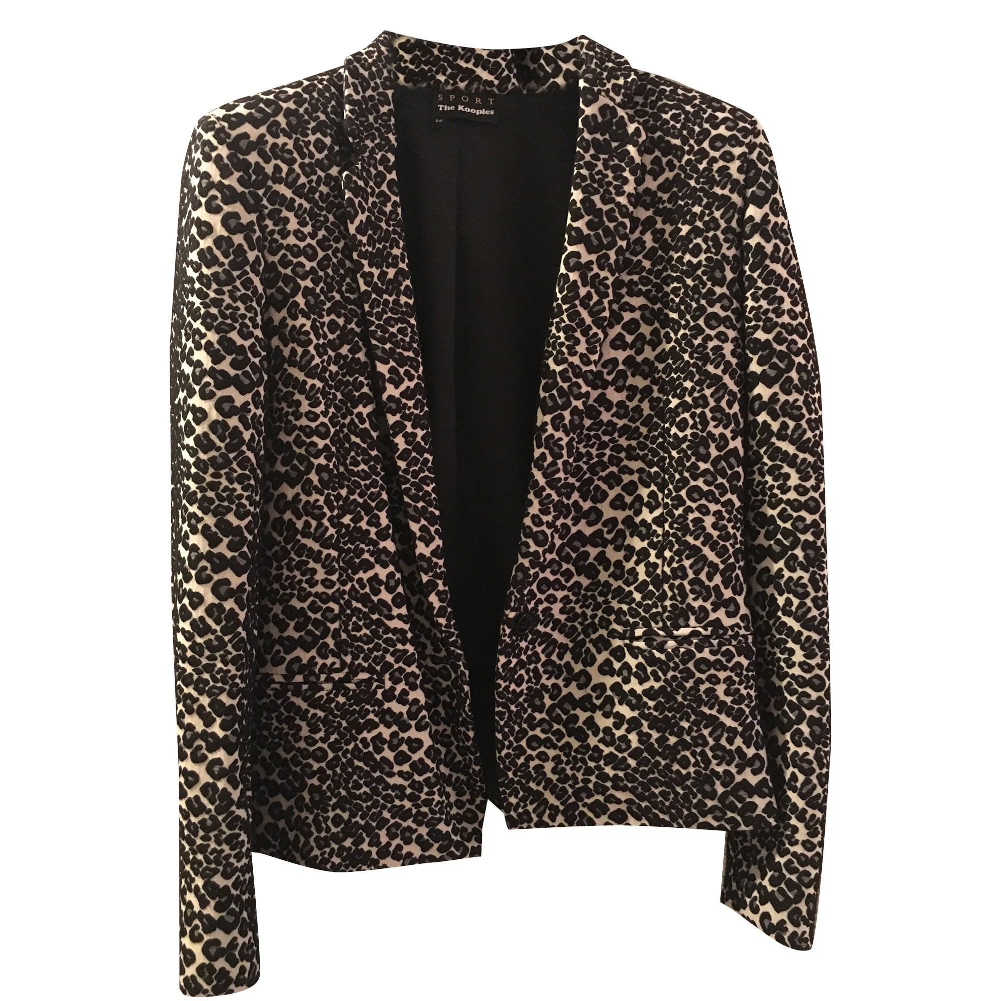 Veste tailleur leopard femme