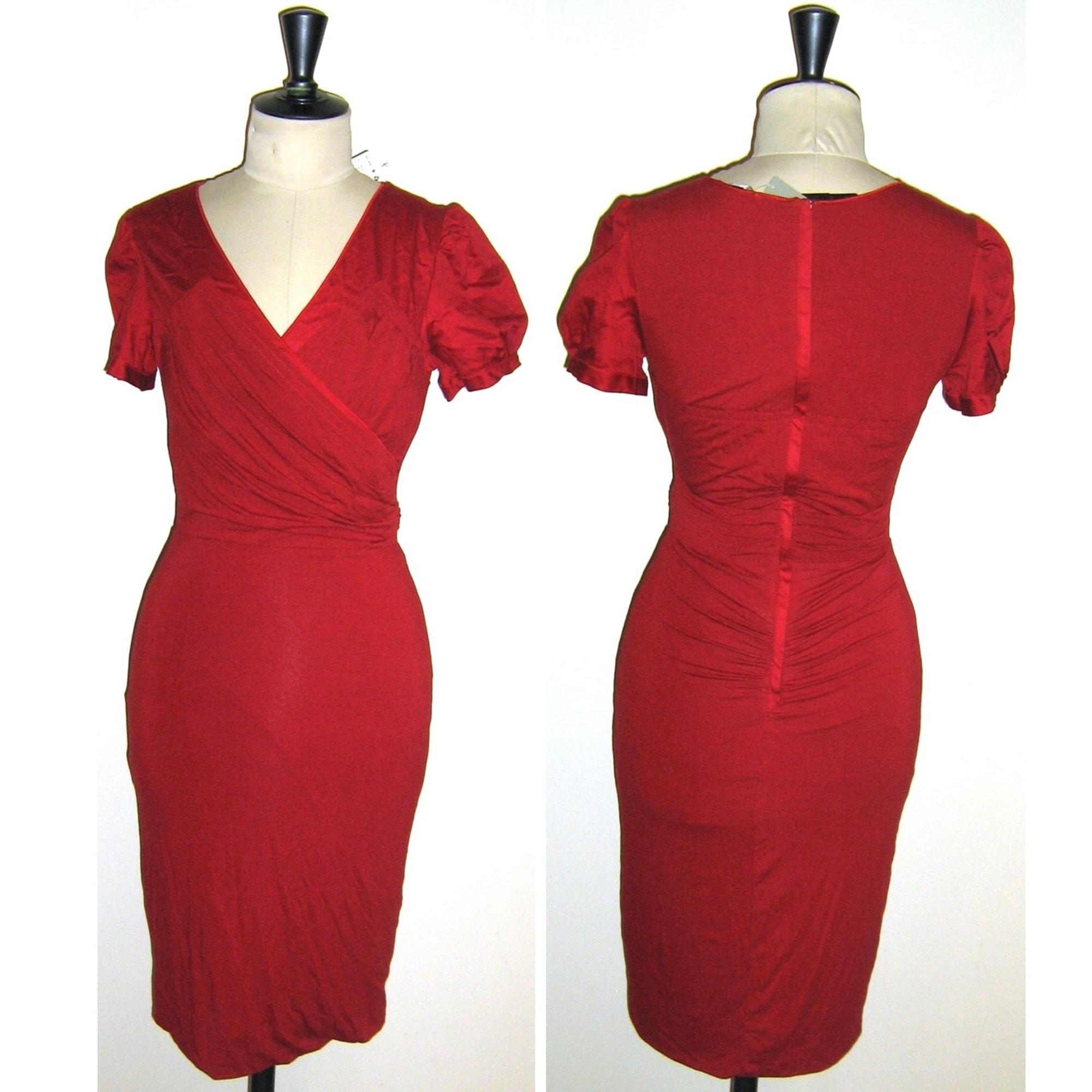 Robe mi-longue MANGO 38 (M, T2) rouge - 7371515 8264c7952d09