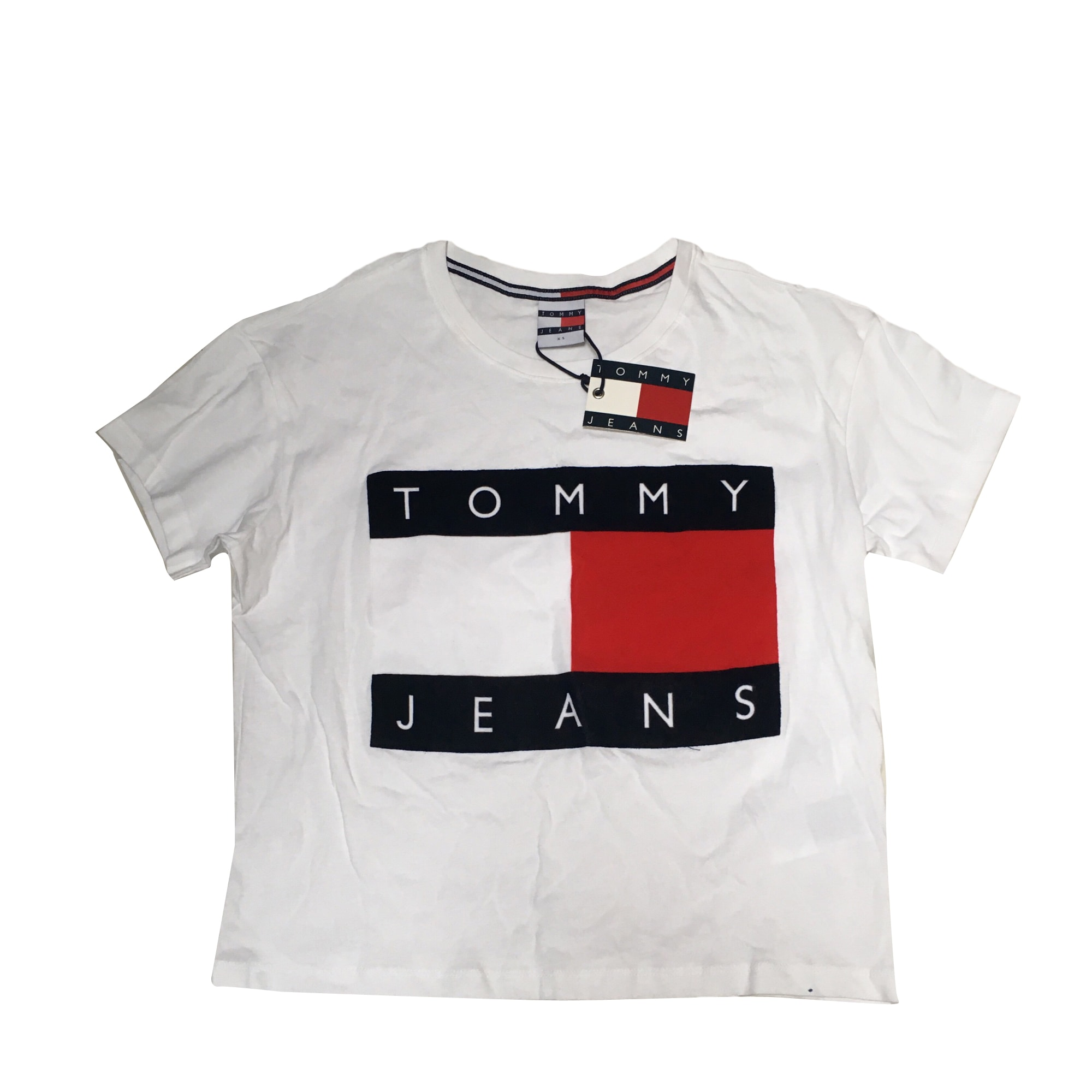top t shirt tommy hilfiger 34 xs t0 white vendu par luxembourg26 7381418. Black Bedroom Furniture Sets. Home Design Ideas