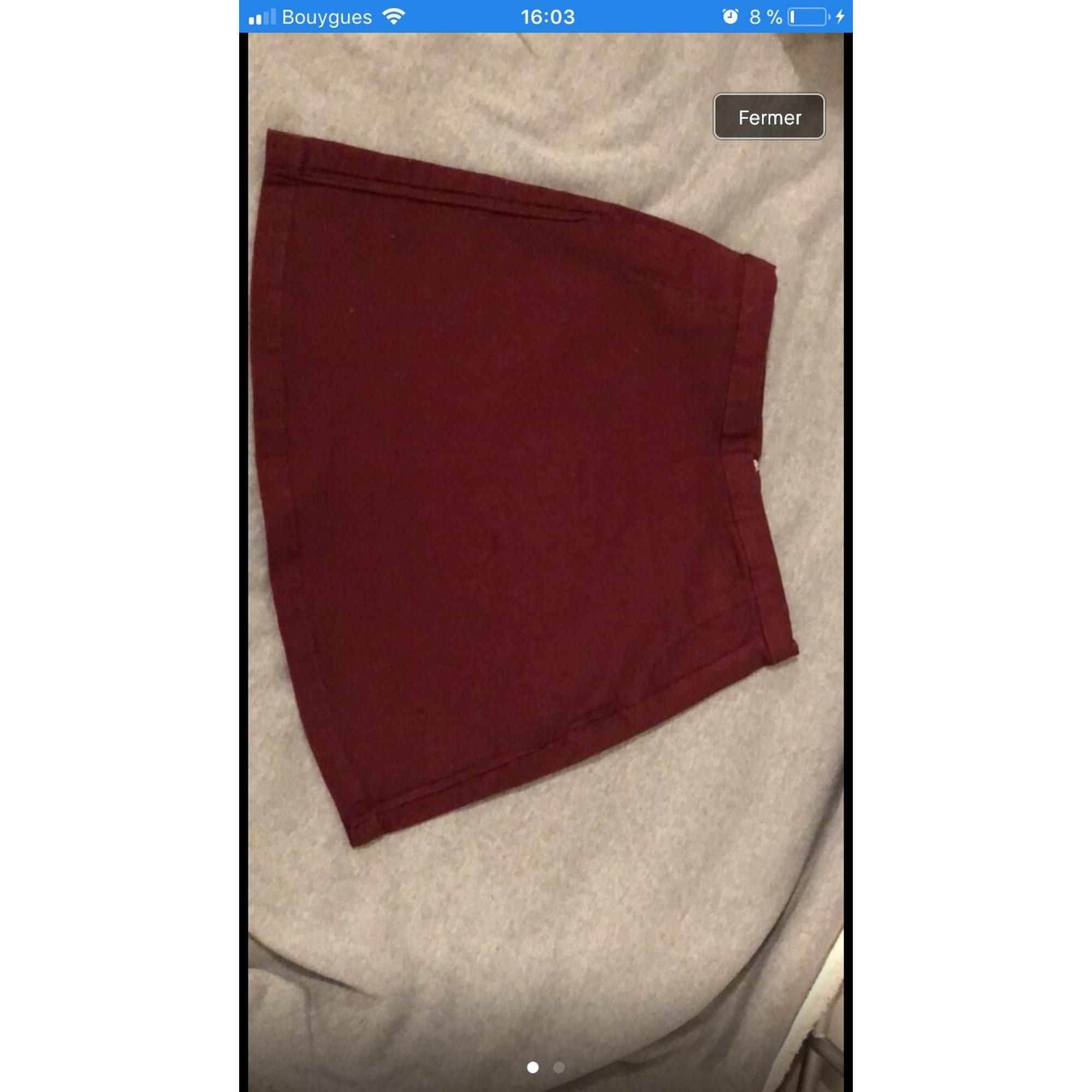 Jupe courte PULL & BEAR Rouge, bordeaux