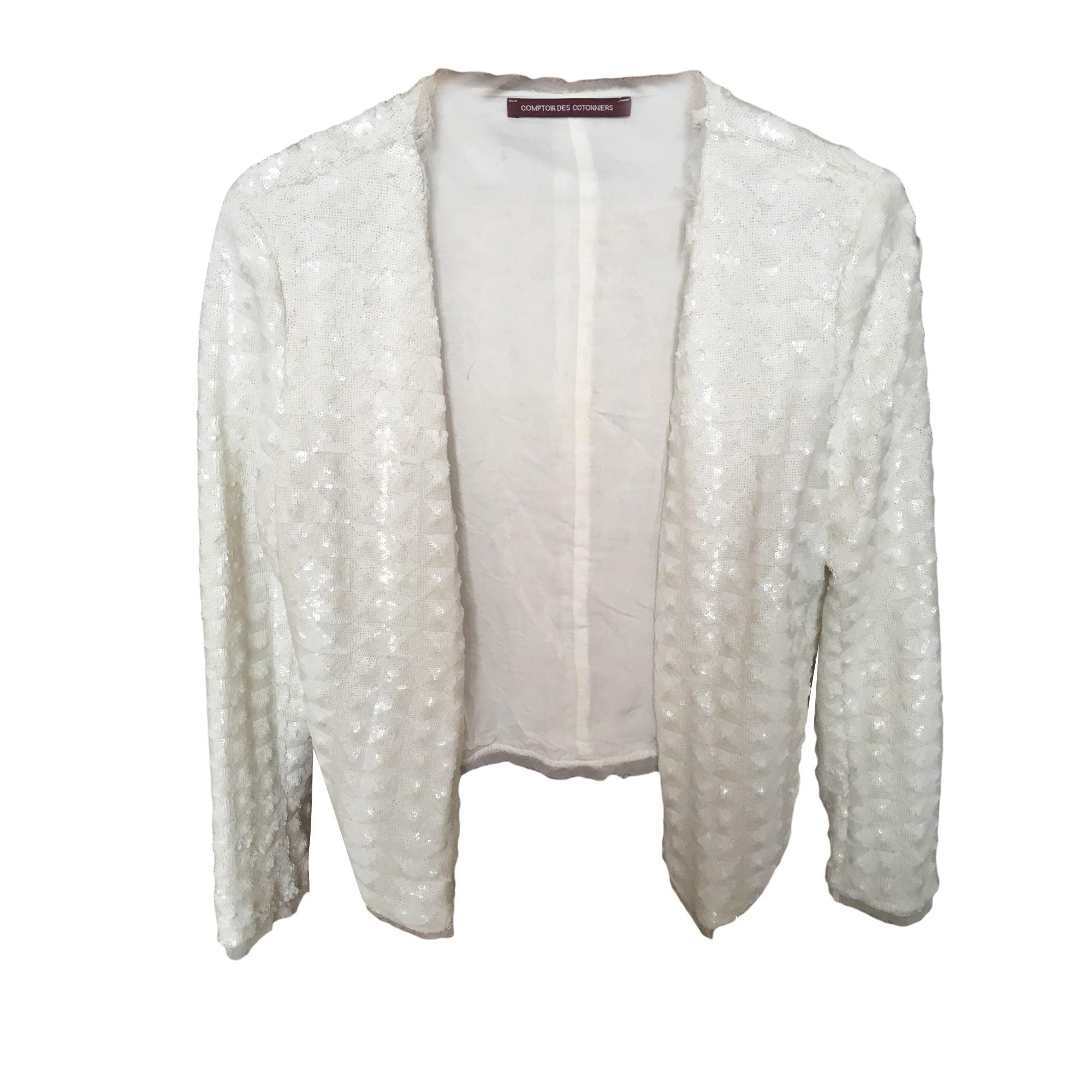 Blazer T2 Veste Des Tailleur m Comptoir Cotonniers Blanc 38 rrxzw