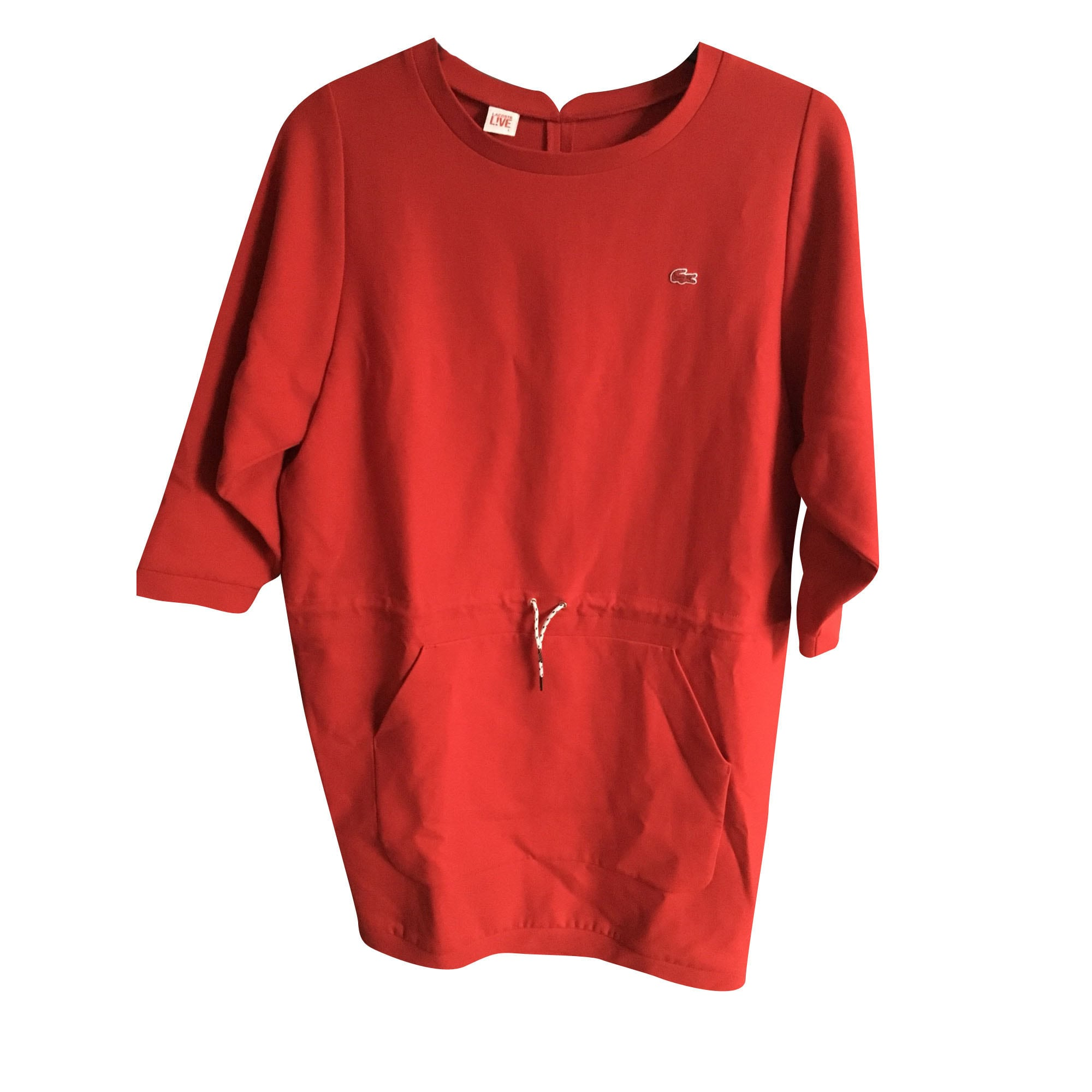 42fa48b0d8 Robe pull LACOSTE 40 (L, T3) rouge - 7382688