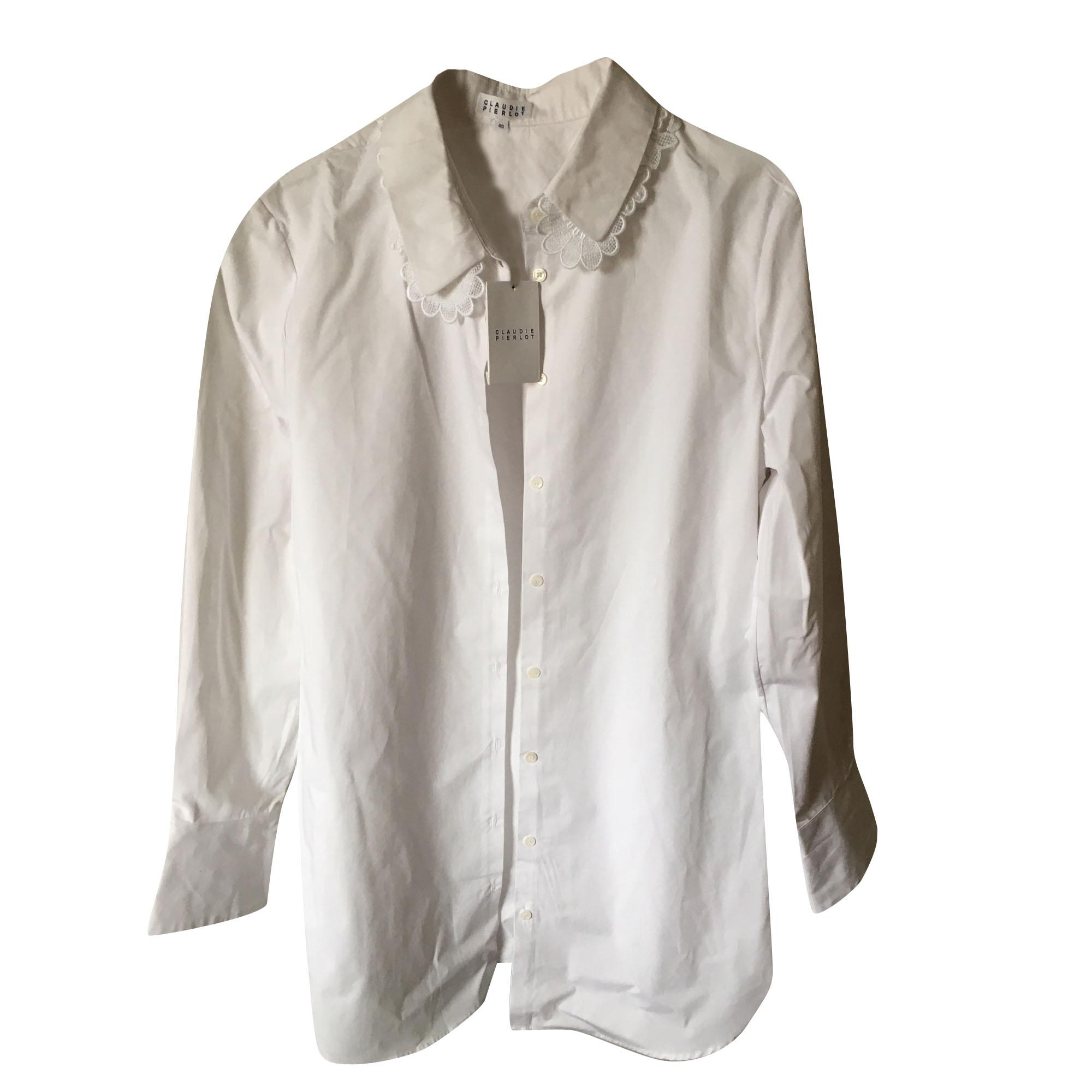 Chemise CLAUDIE PIERLOT 40 (L, T3) blanc vendu par Vend69 - 7387654 fba65c7aedd7