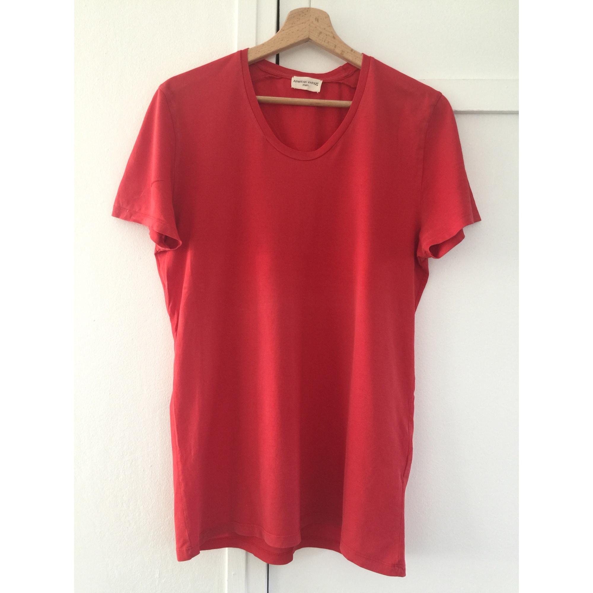 Tee-shirt AMERICAN VINTAGE Rouge, bordeaux