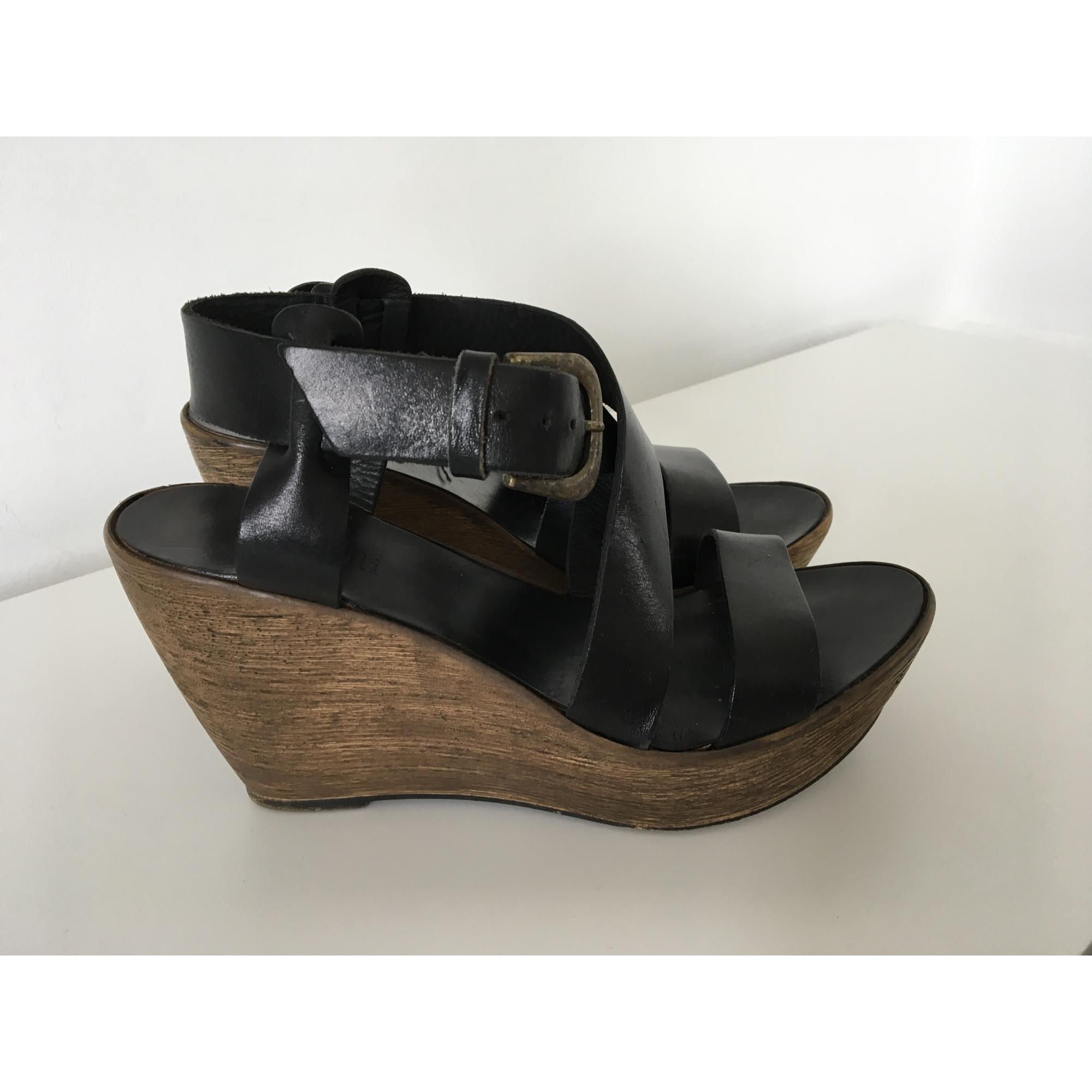 Minelli 39 Sandales 7401236 Noir Compensées 8OZn0wNXPk