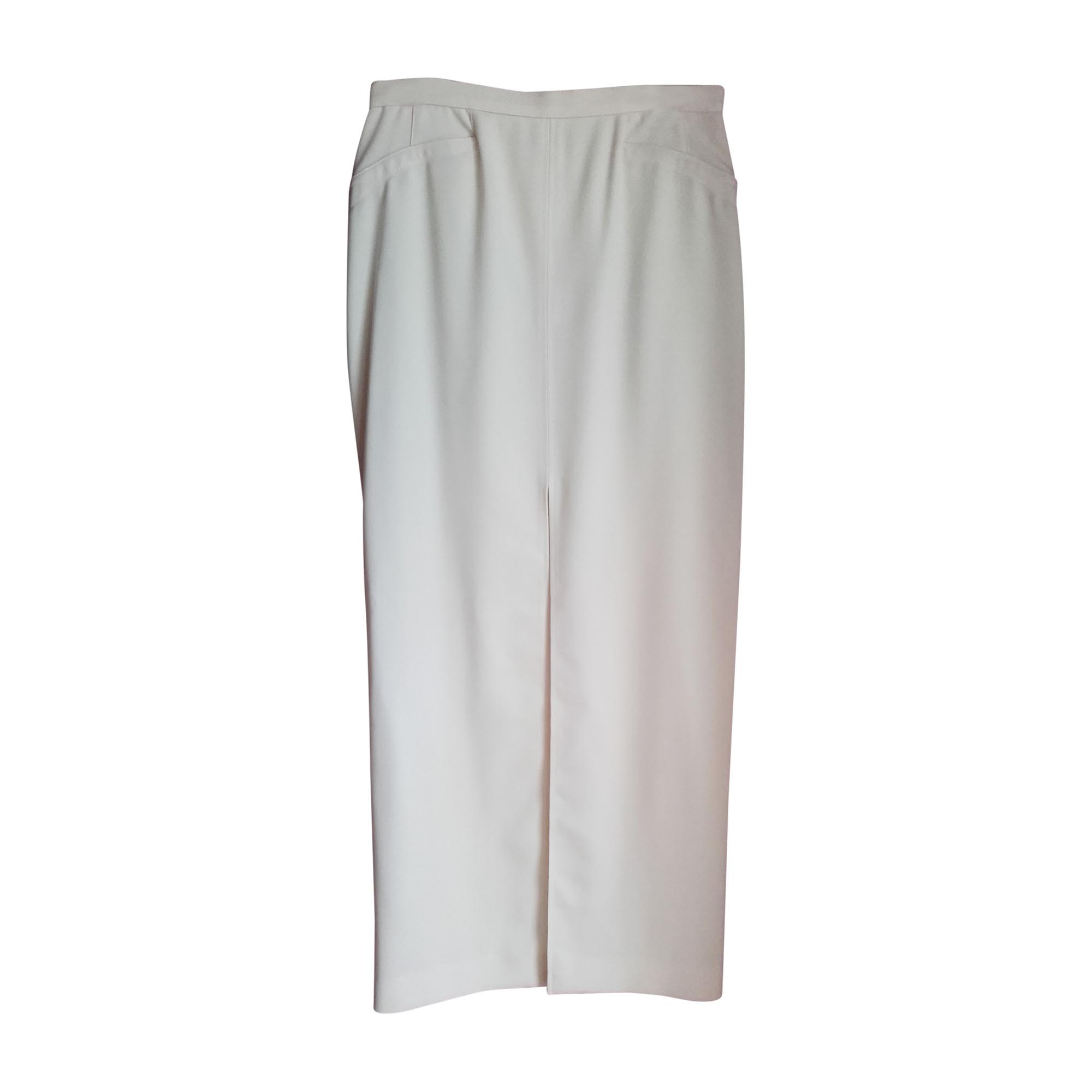 Tailleur jupe THIERRY MUGLER Blanc, blanc cassé, écru