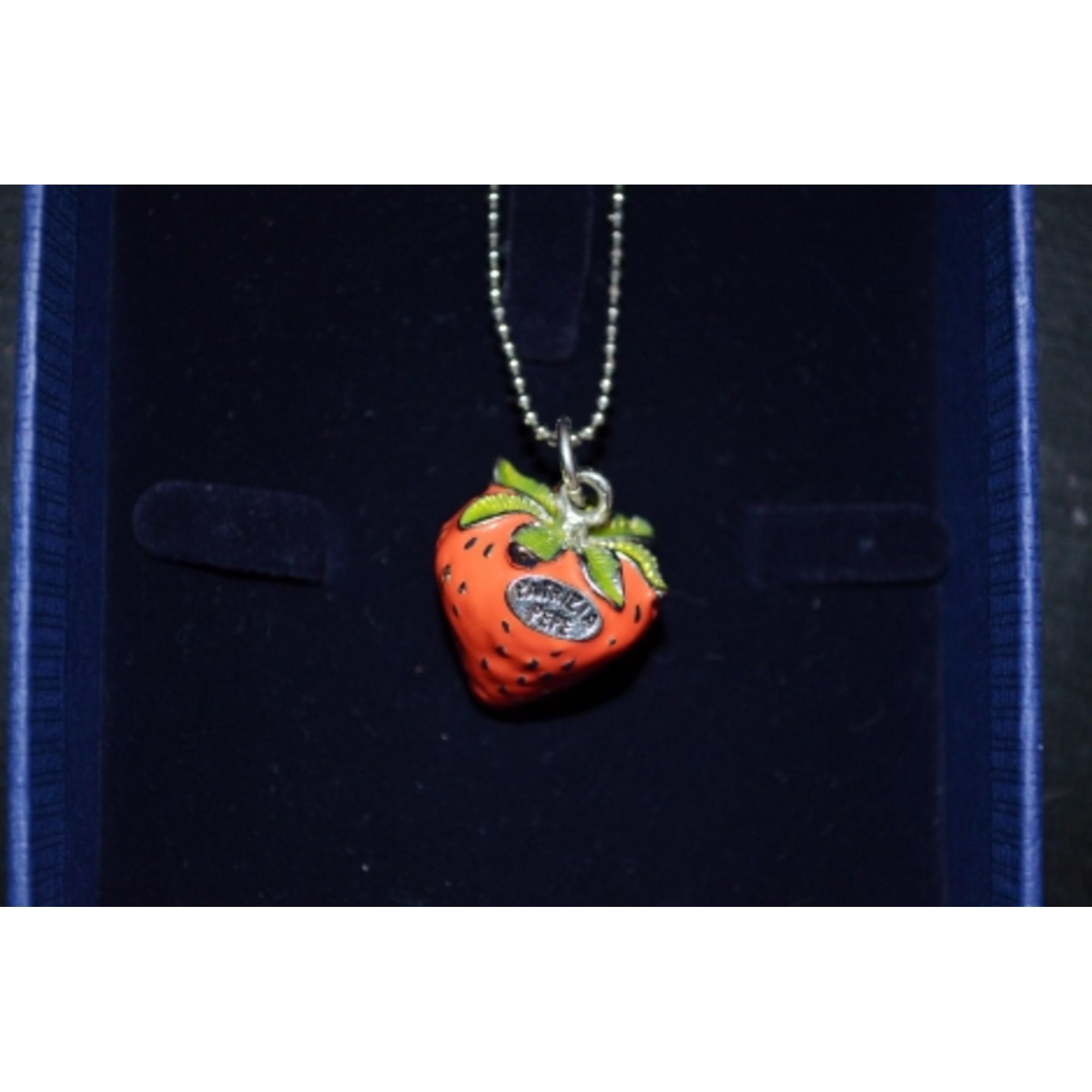 Pendentif, collier pendentif PATRIZIA PEPE rhodium rouge
