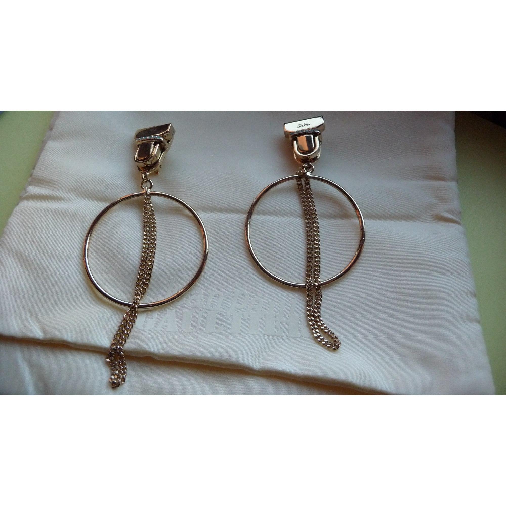 Boucles d'oreille JEAN PAUL GAULTIER métal doré