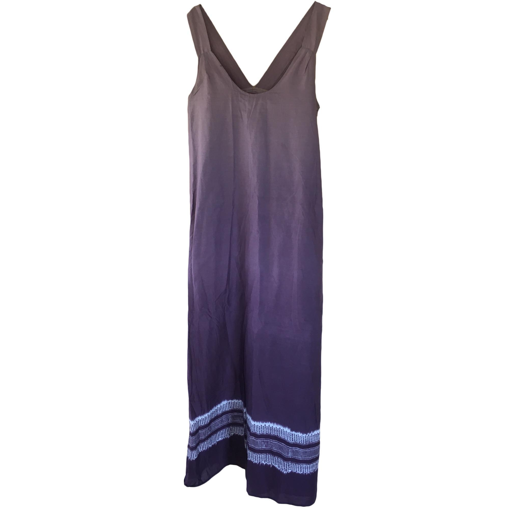 Robe longue comptoir des cotonniers 42 l xl t4 violet - Robe longue comptoir des cotonniers ...