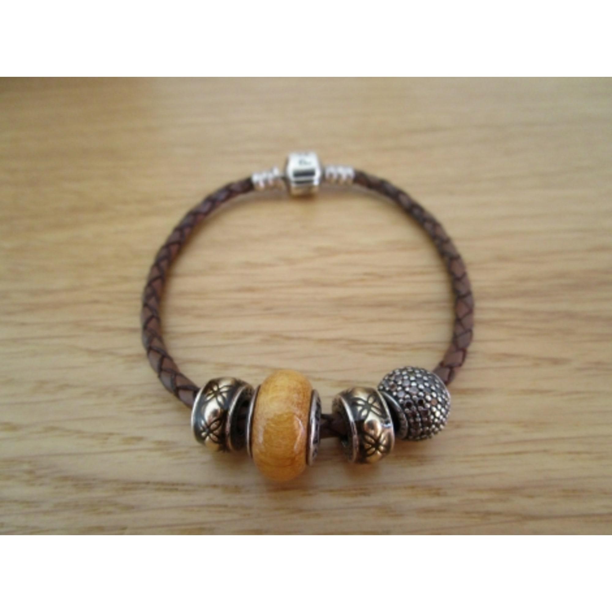 bracelet pandora marron