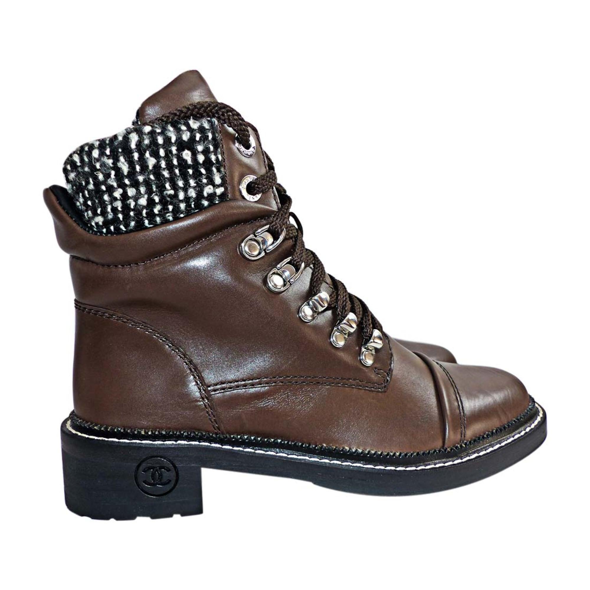 Chaussures à lacets CHANEL 36 marron - 7421251 ec2fbd66d72