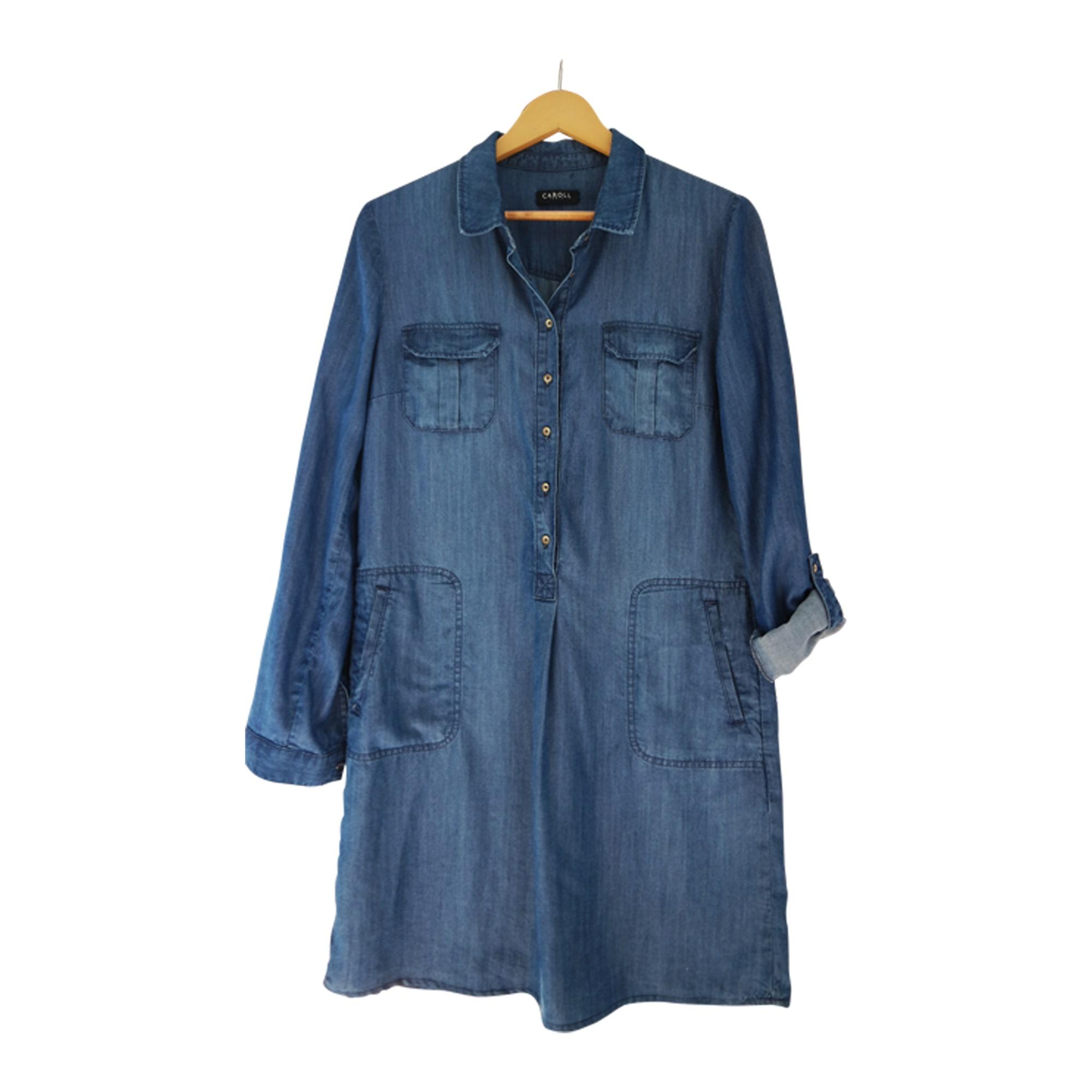 8a68c8a13436 Robe en jeans CAROLL 40 (L, T3) bleu vendu par Sylvie 15112604 - 7424190