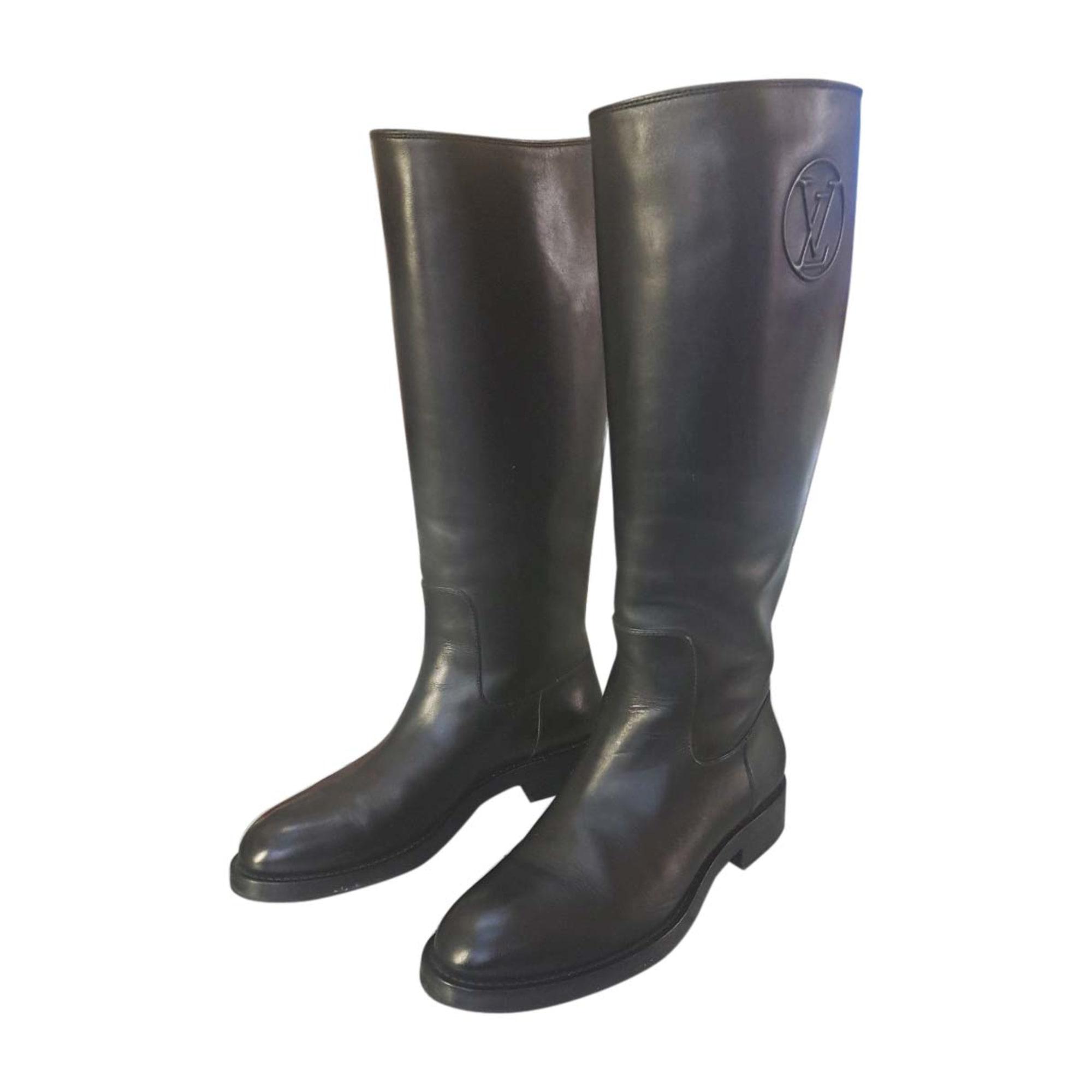Bottes cavalières LOUIS VUITTON 41 noir - 7424392 257341b1de0