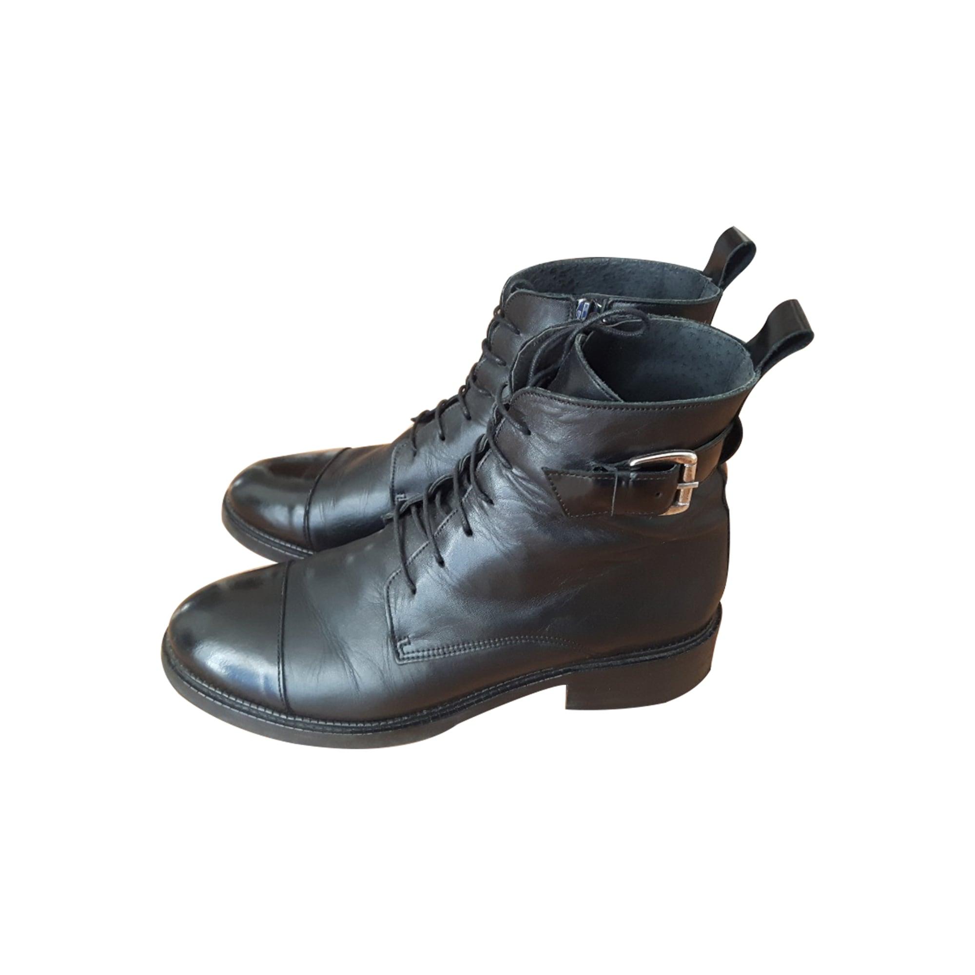 be72bdec1bce Bottines   low boots plates JONAK 38 noir vendu par Anneso lou - 7425407