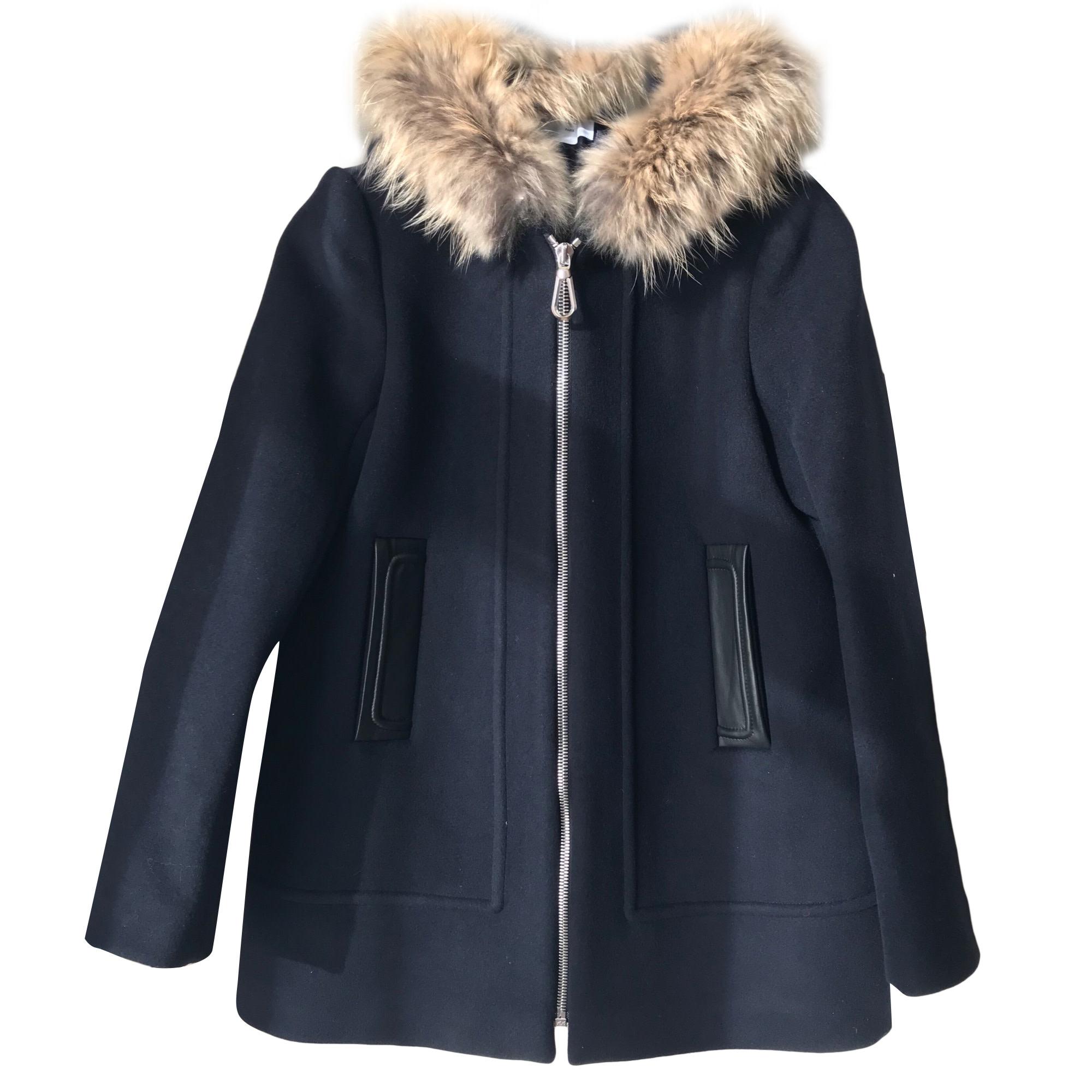 Manteau bleu marine femme sandro