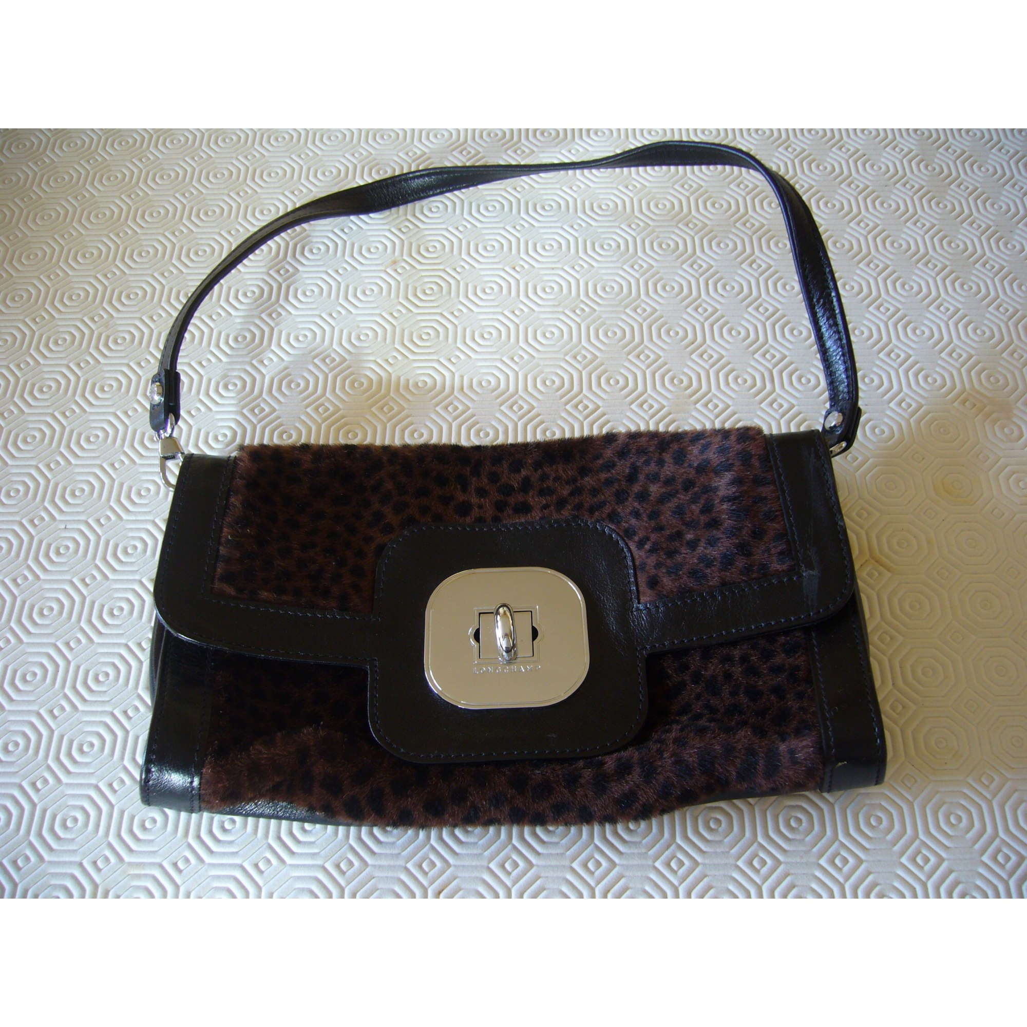 b88847d4a5 Sac pochette en cuir LONGCHAMP marron - 7432969