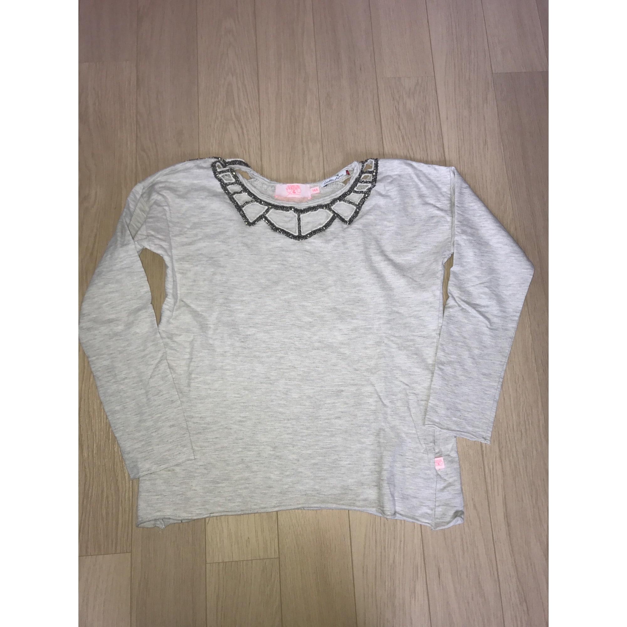 Sweat TEMPS DES CERISES coton gris 13-14 ans