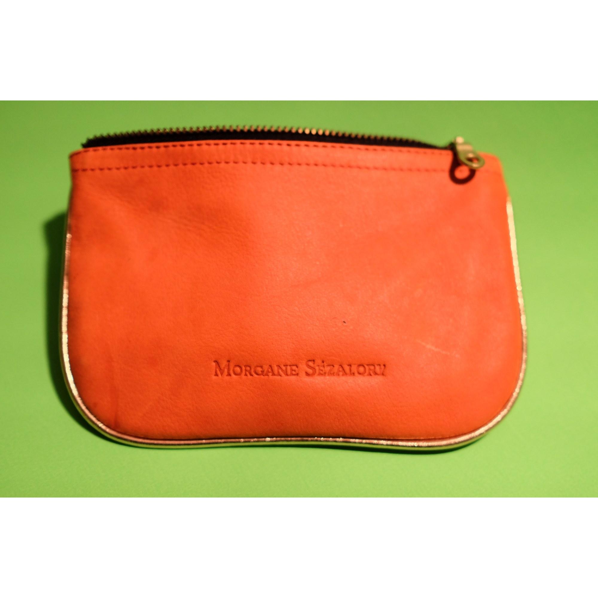 Porte-monnaie SÉZANE cuir orange