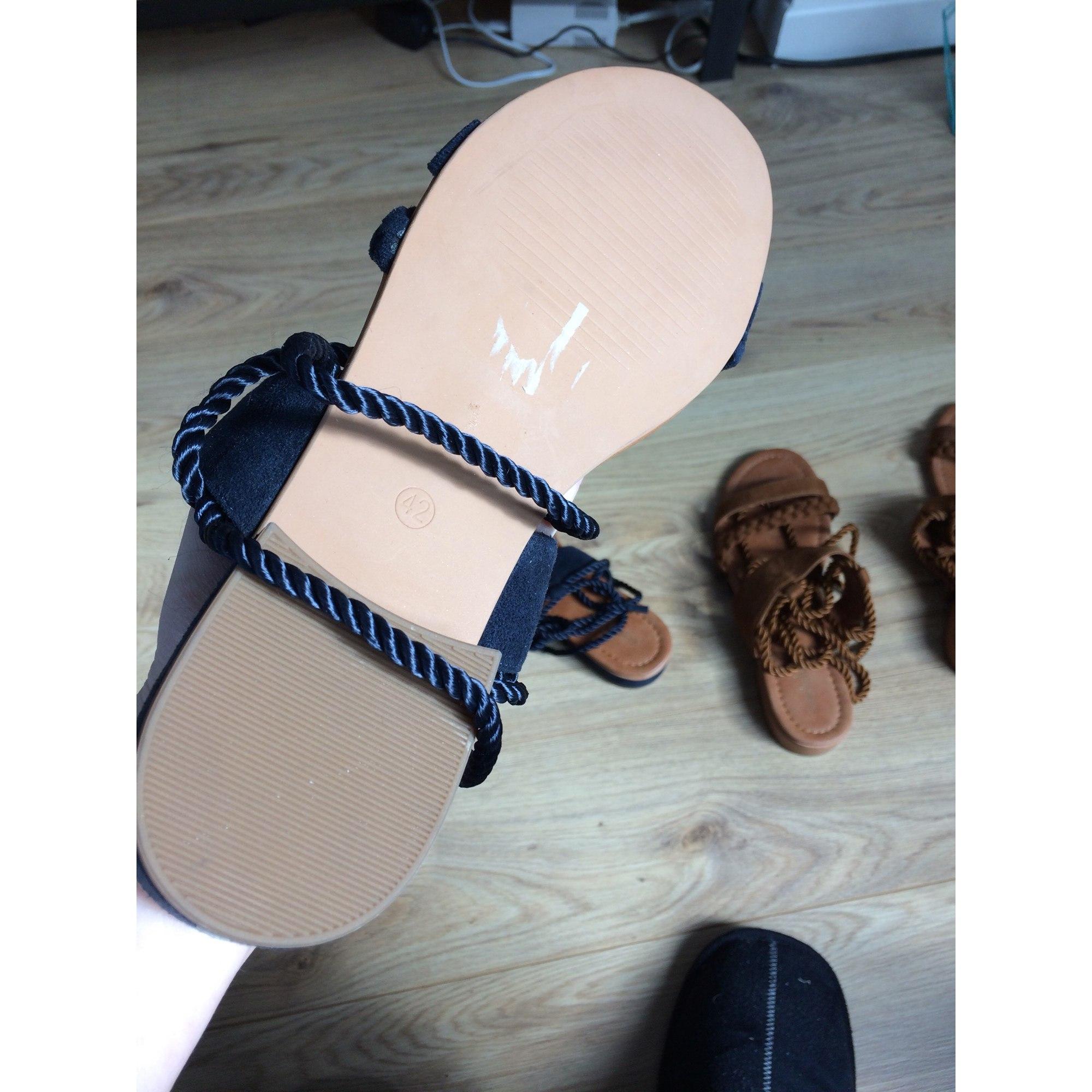 Sandales La 42 7447820 Redoute Plates Bleu Opkxiuz tdsQrhC