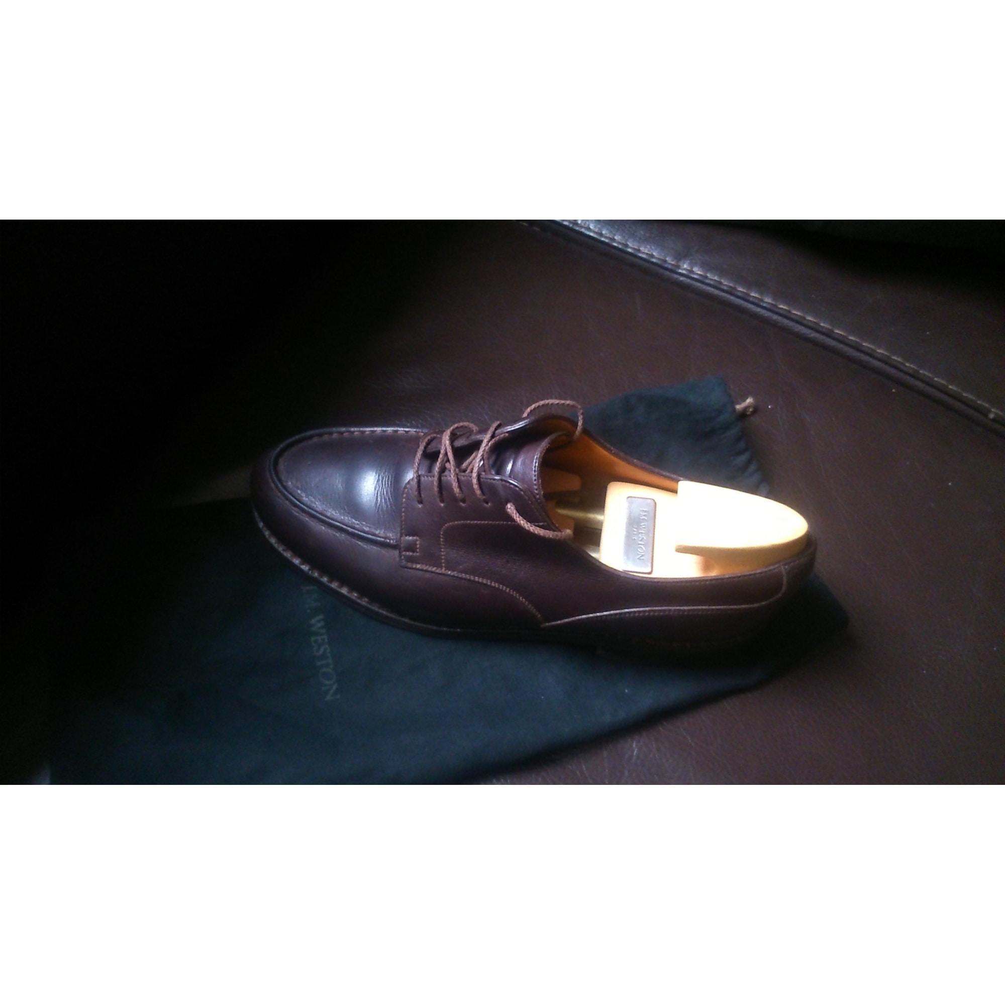 b224daf423 Chaussures à lacets J.M. WESTON 40 marron - 7453406