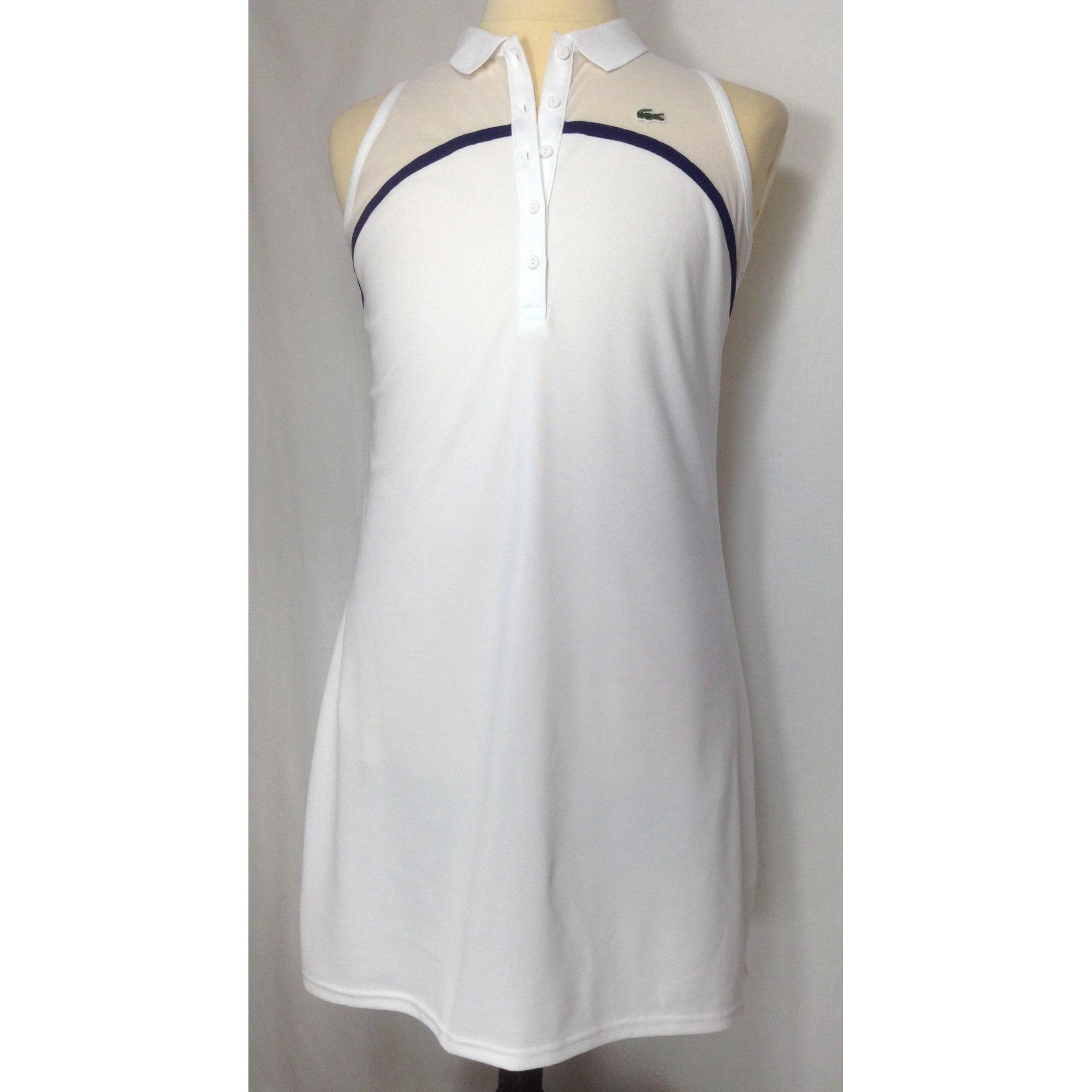 5b10c6c39c Robe tunique LACOSTE Blanc, blanc cassé, écru