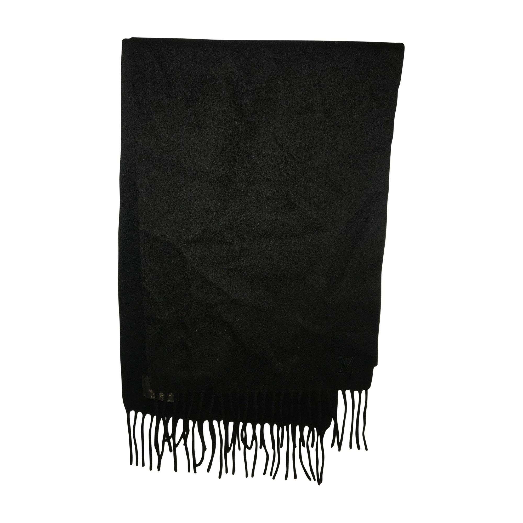 Echarpe LOUIS VUITTON noir - 7459157 e55ab2fe7f3