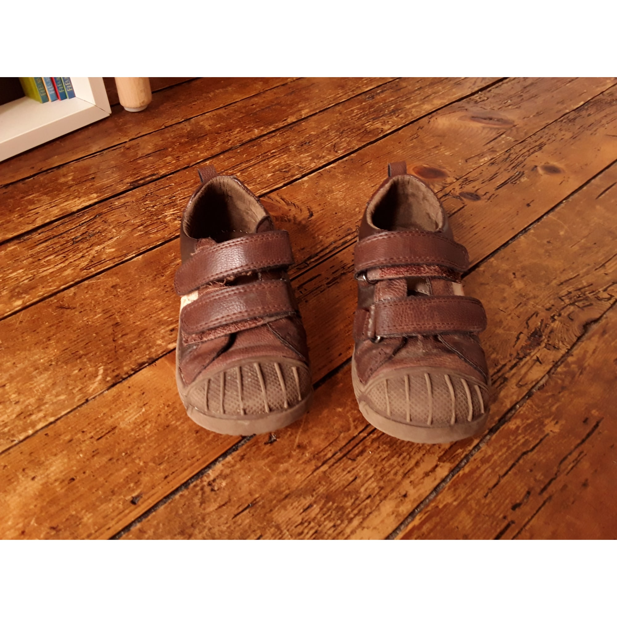 Chaussures à scratch PATAUGAS Marron