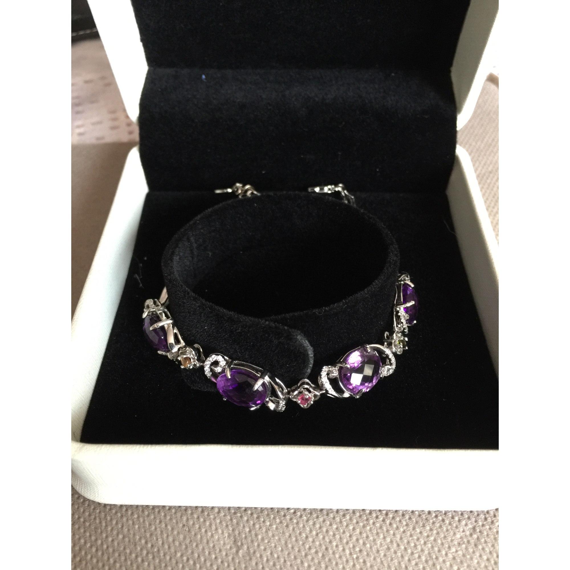 Bracelet BEAU SANS LOGO argent violet