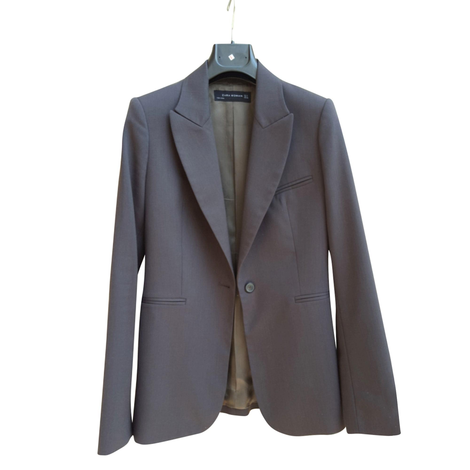 Blazer, veste tailleur ZARA 38 (M, T2) marron - 7472406 ad2f906f3162