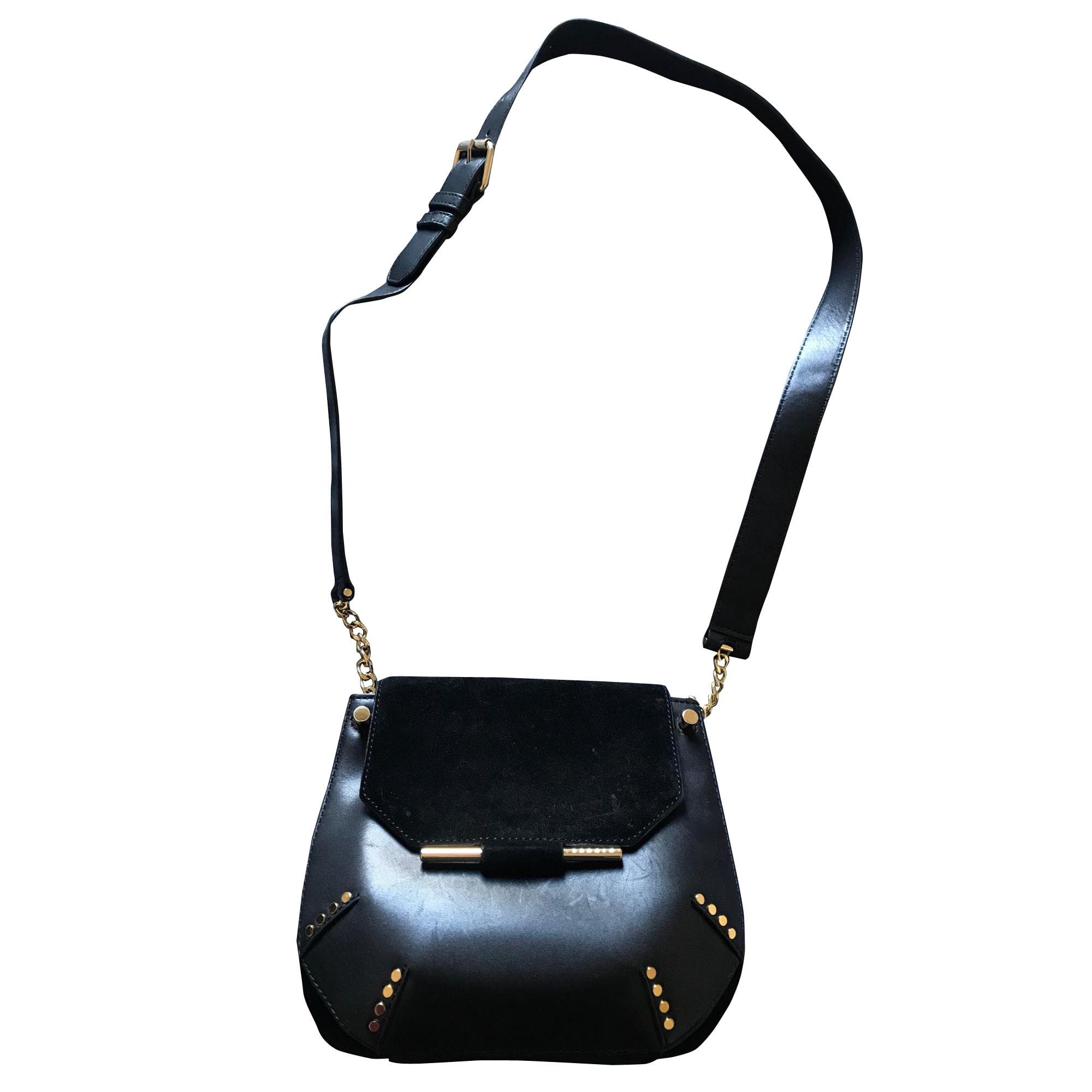 9af67bd862 Sac en bandoulière en cuir SANDRO noir vendu par Delphinecases9759 ...