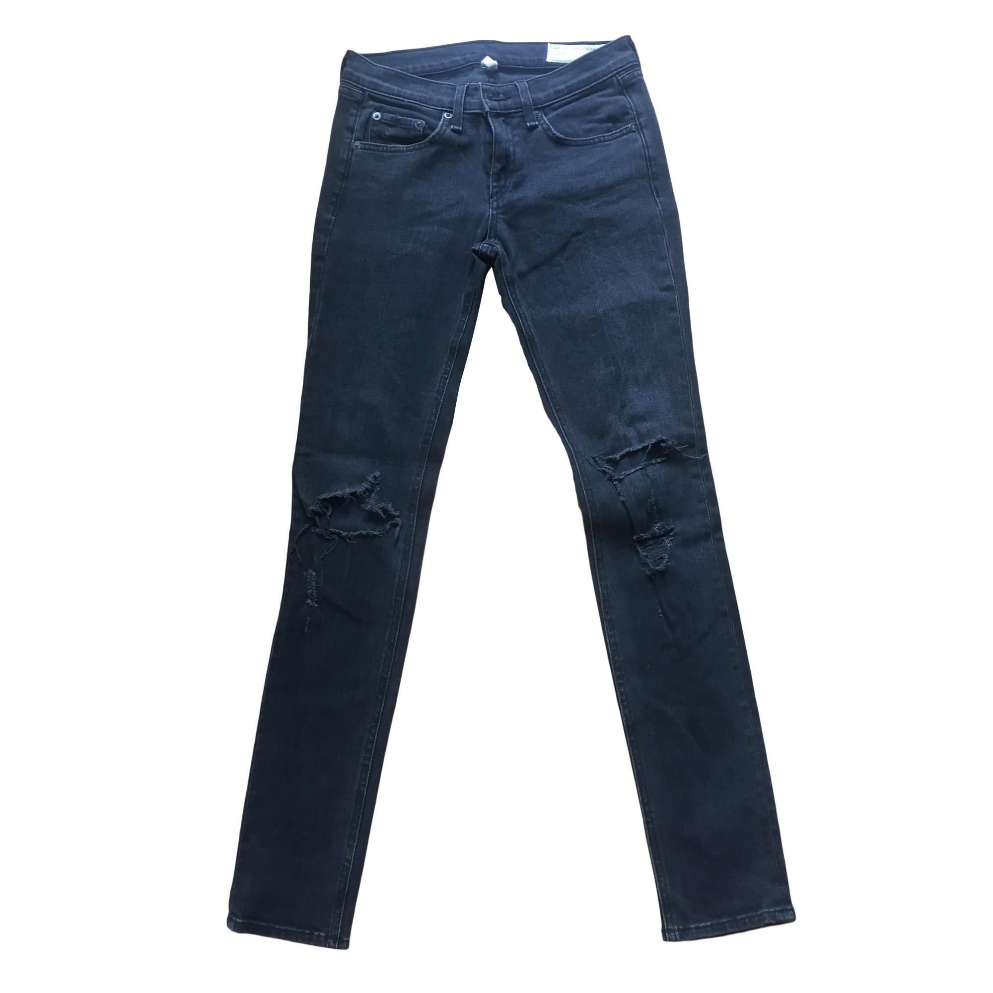 Jeans slim RAG   BONE W25 (T 34) gris - 7479818 7e7f774884d4