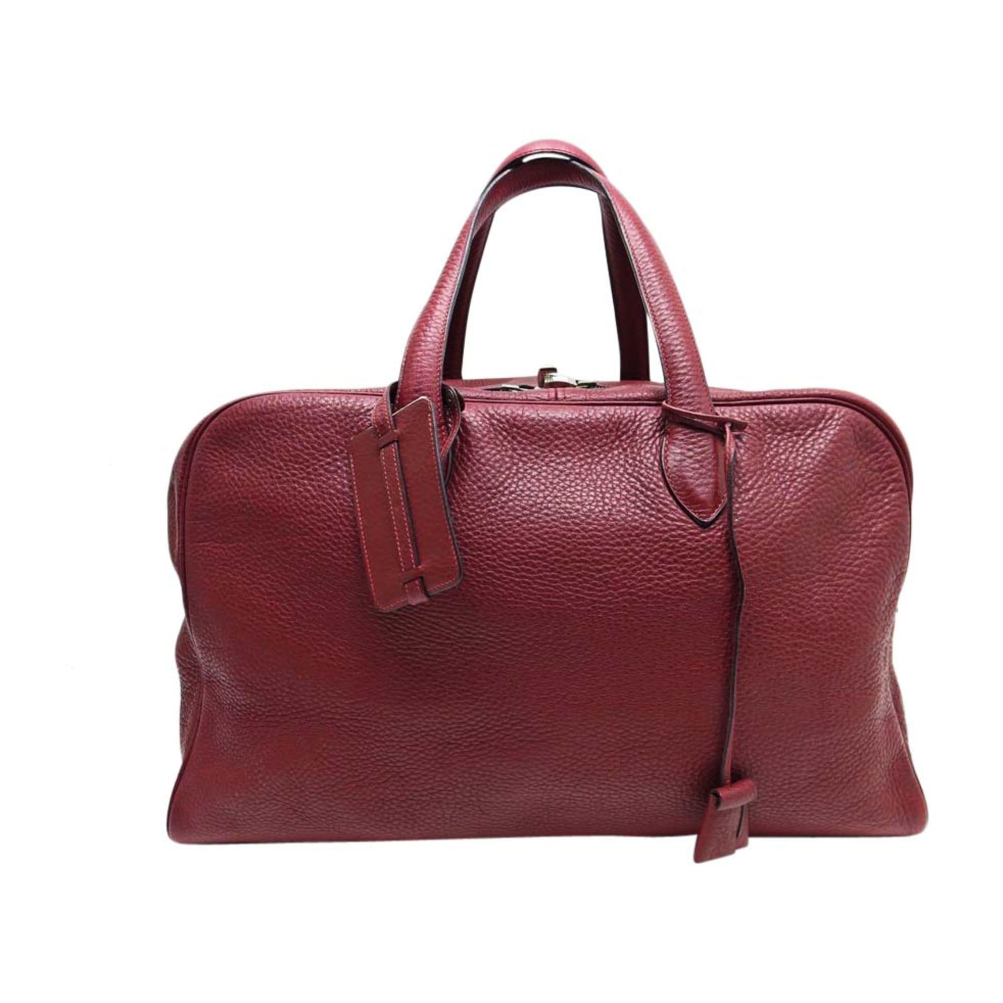 66a1a6575e Sac XL en cuir HERMÈS Victoria II Rouge, bordeaux